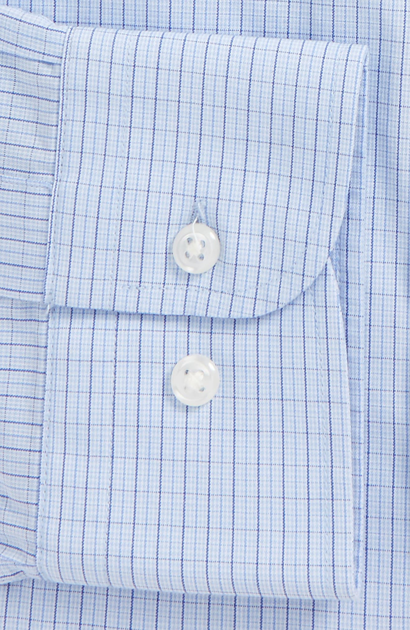 Tech-Smart Traditional Fit Stretch Tattersall Dress Shirt,                             Alternate thumbnail 4, color,                             420