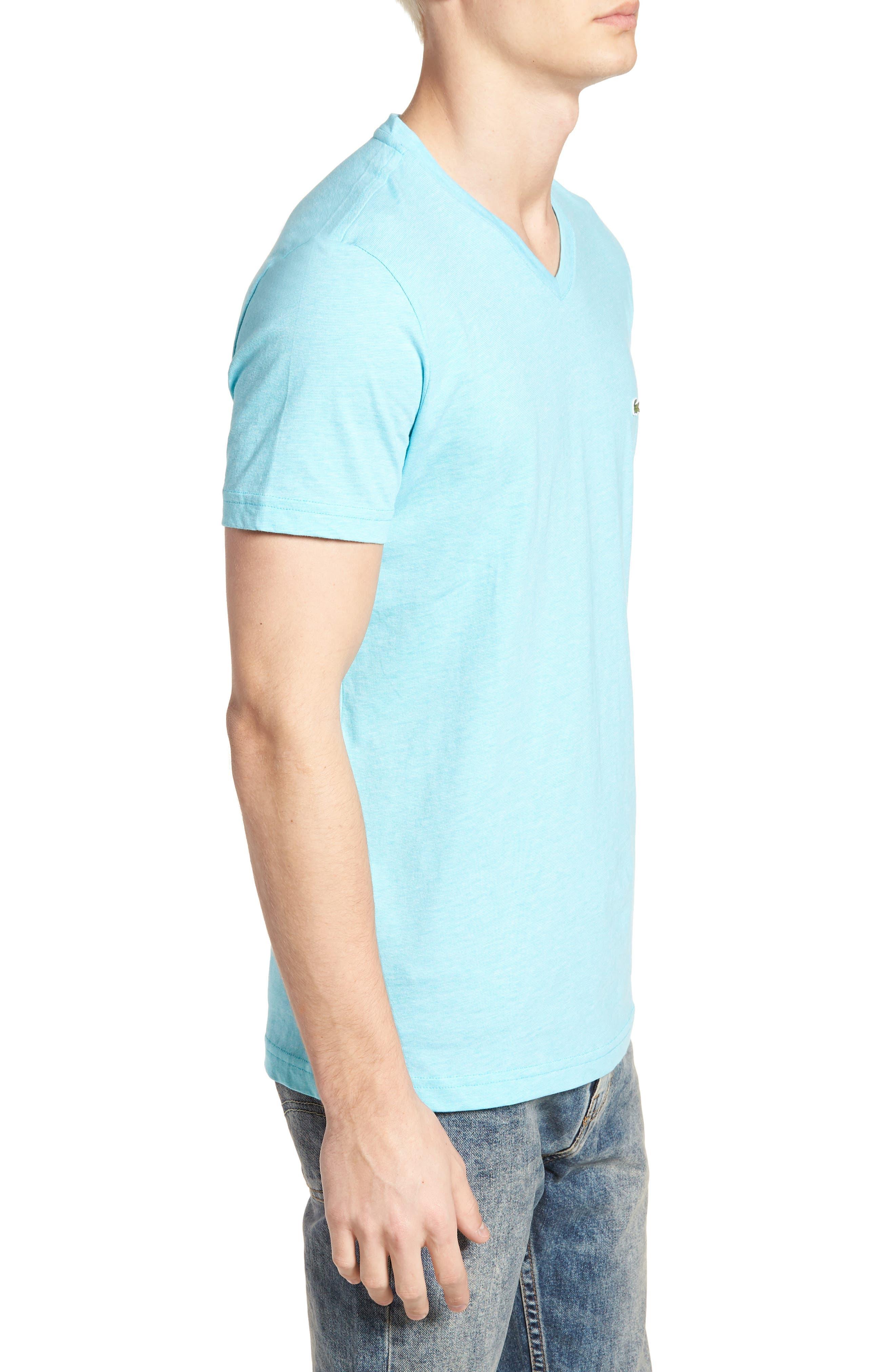 V-Neck Cotton T-Shirt,                             Alternate thumbnail 8, color,