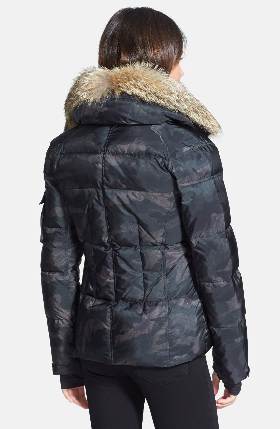 SAM. 'Freestyle' Camo Goose Down Jacket with Genuine Coyote Fur Collar,                             Alternate thumbnail 2, color,                             300