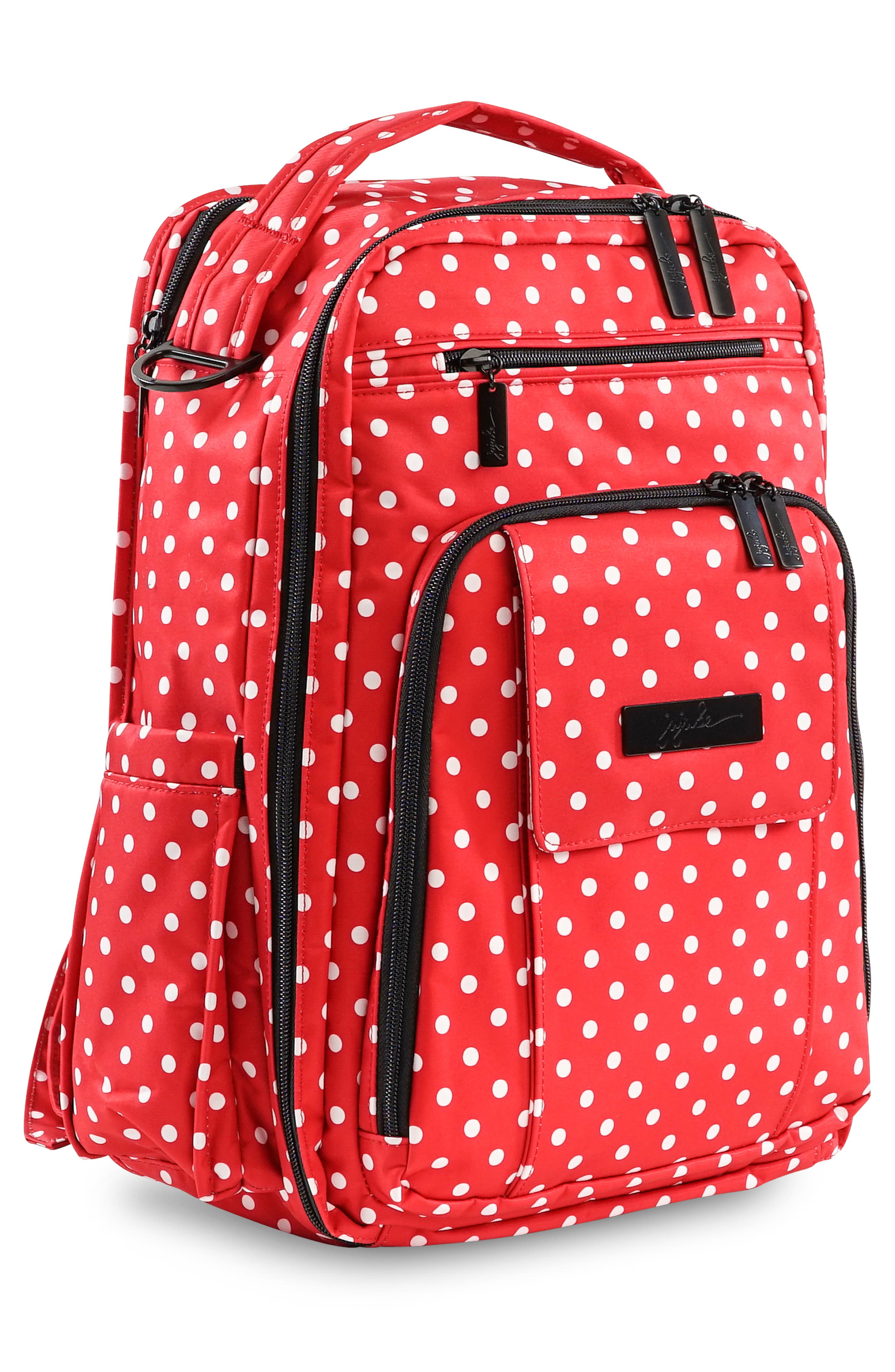 'Be Right Back - Onyx Collection' Diaper Backpack,                             Alternate thumbnail 5, color,                             BLACK RUBY