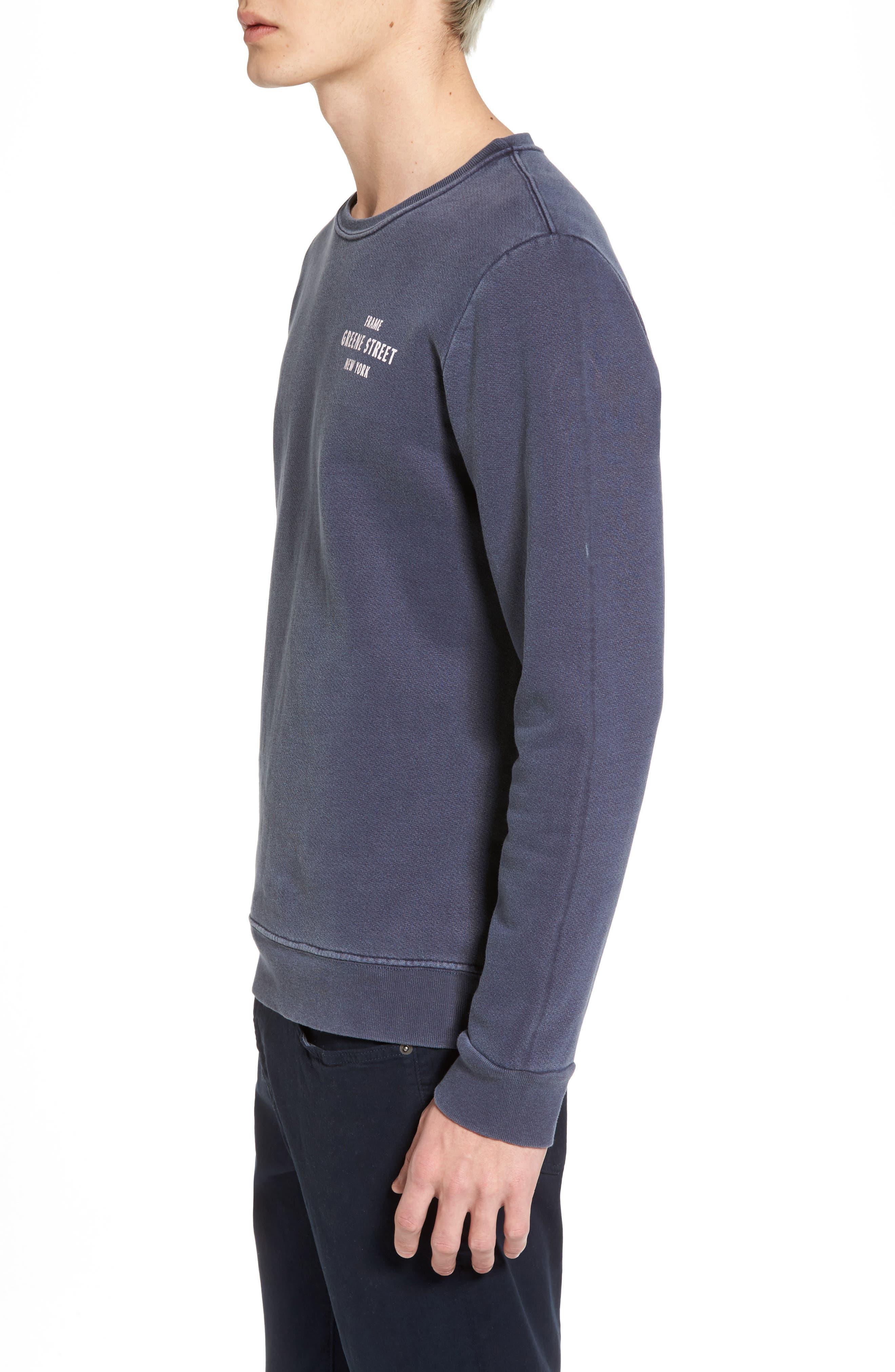 Vintage Crewneck Sweatshirt,                             Alternate thumbnail 8, color,