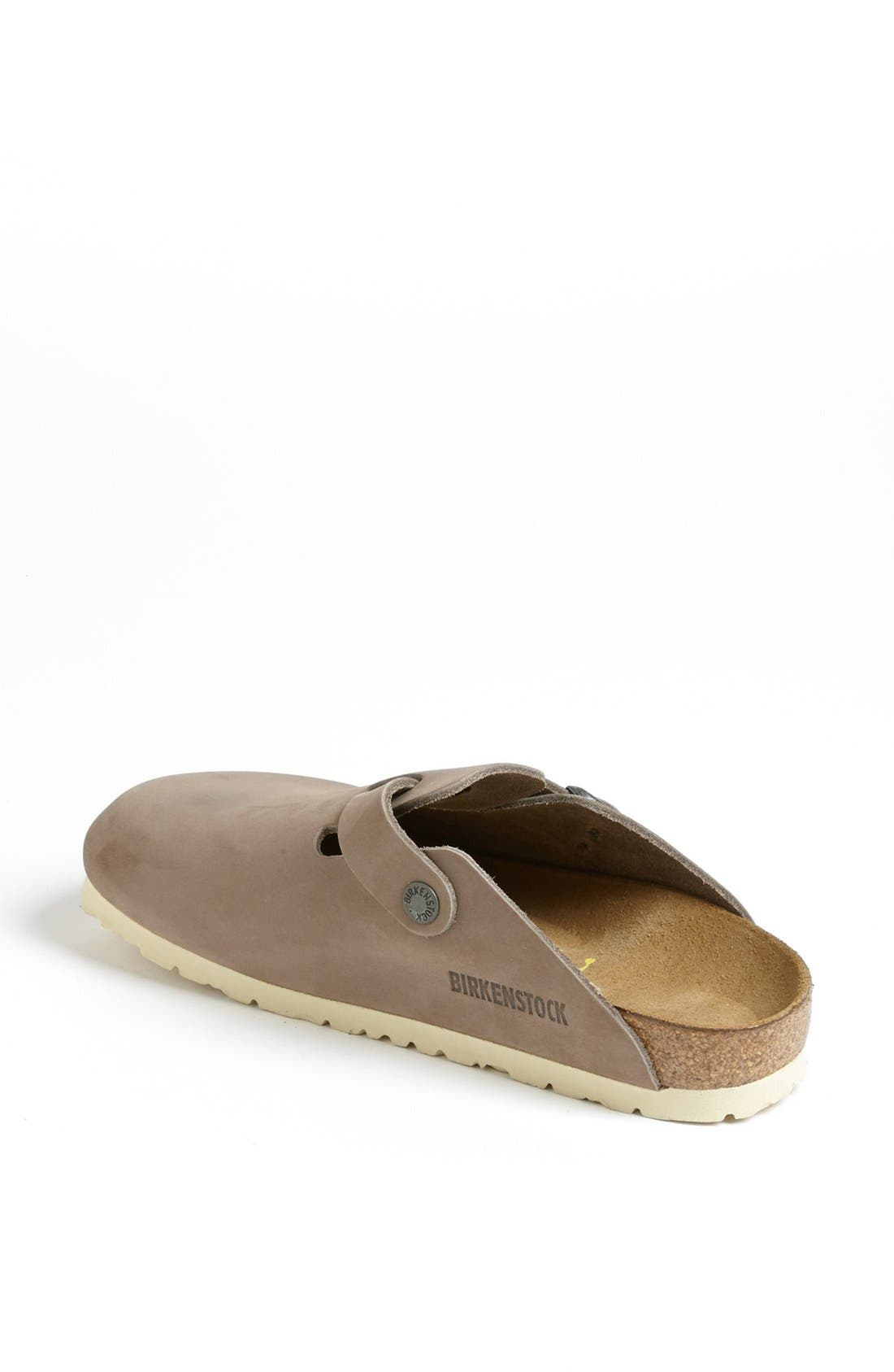 'Boston' Classic Oiled Leather Clog,                             Alternate thumbnail 21, color,
