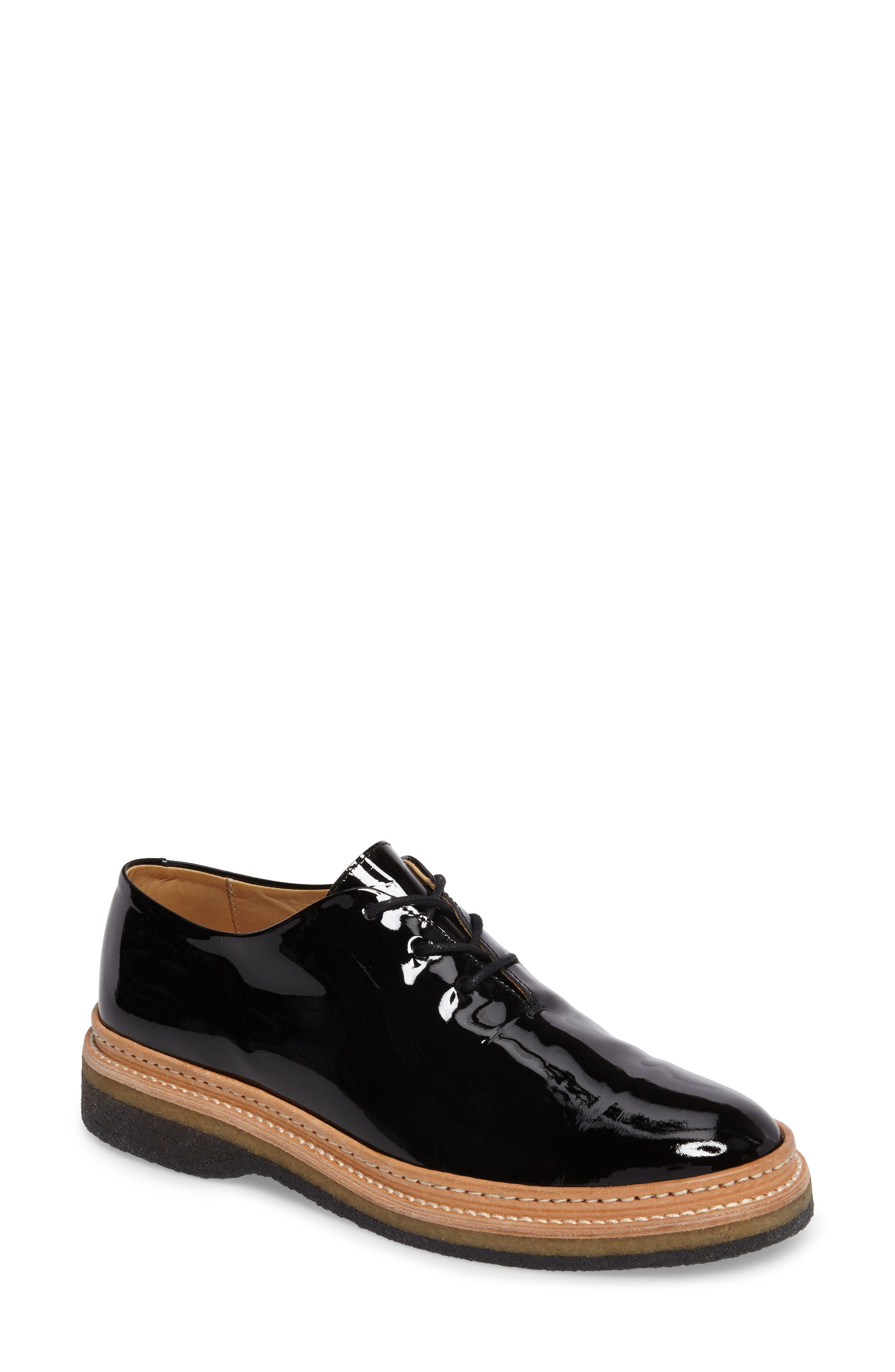 Cordova Oxford,                         Main,                         color, PATENT BLACK