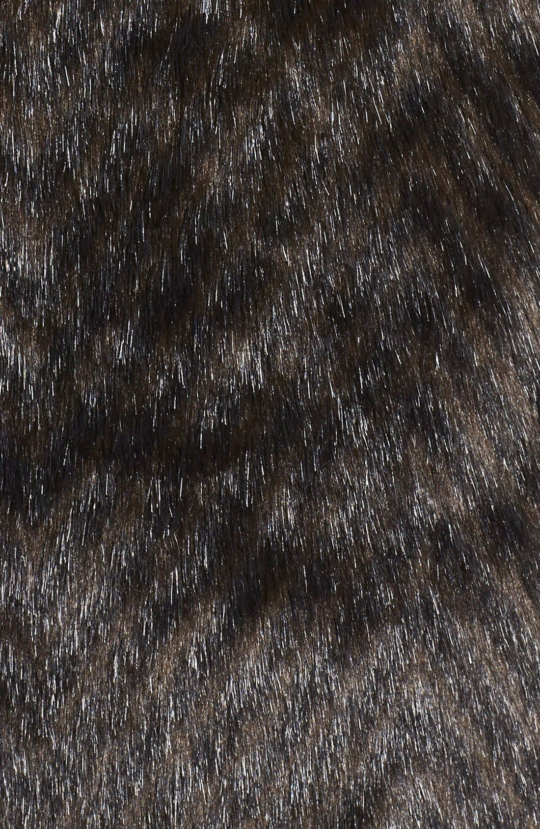 Faux Fur A-Line Coat,                             Alternate thumbnail 3, color,                             200