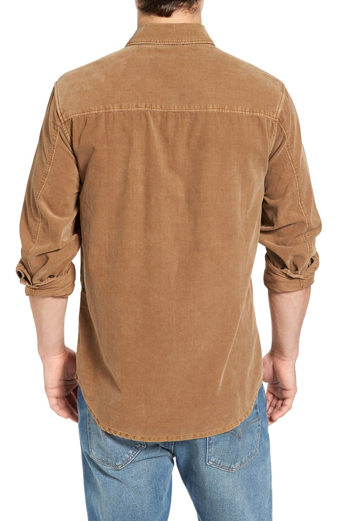 'Jaymes' Pigment Dyed Corduroy Shirt,                             Alternate thumbnail 6, color,