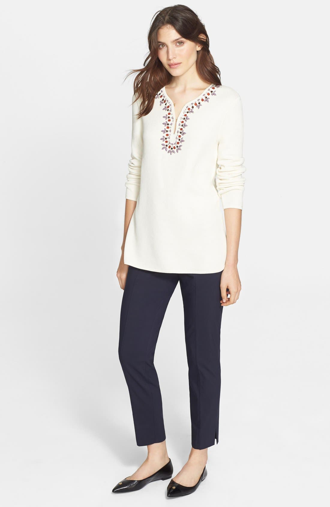 TORY BURCH,                             Embellished Tunic,                             Alternate thumbnail 3, color,                             907