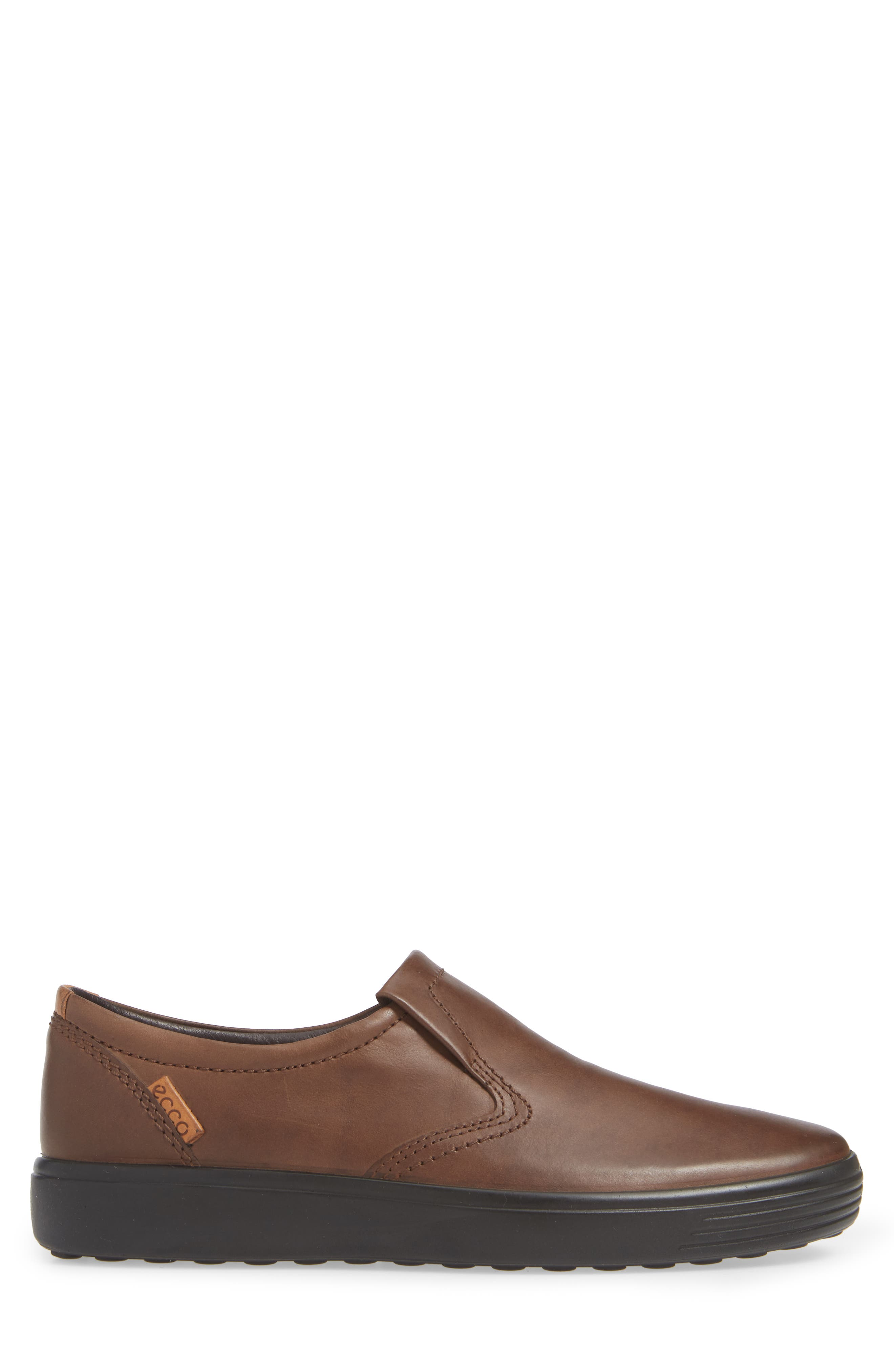 'Soft 7' Slip-On,                             Alternate thumbnail 3, color,                             BROWN LEATHER