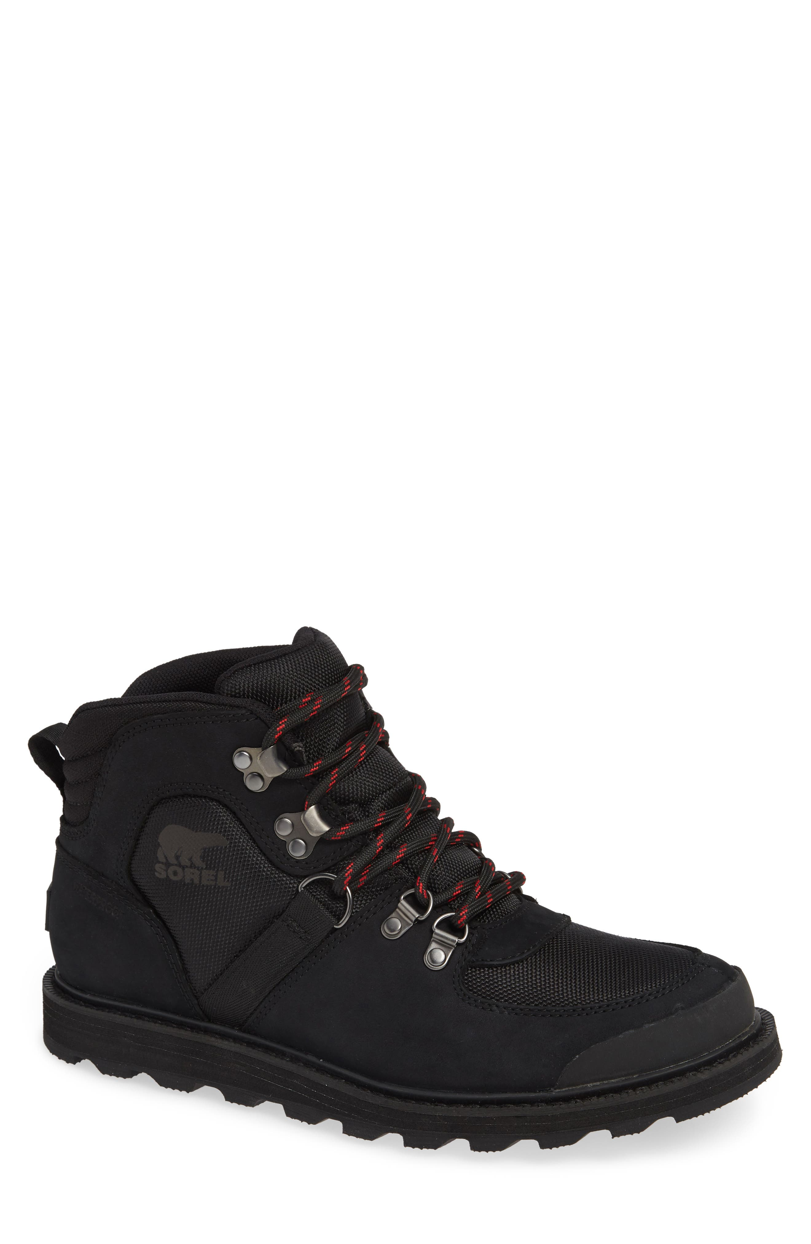 Madson Sport Waterproof Hiking Boot,                             Main thumbnail 1, color,                             BLACK