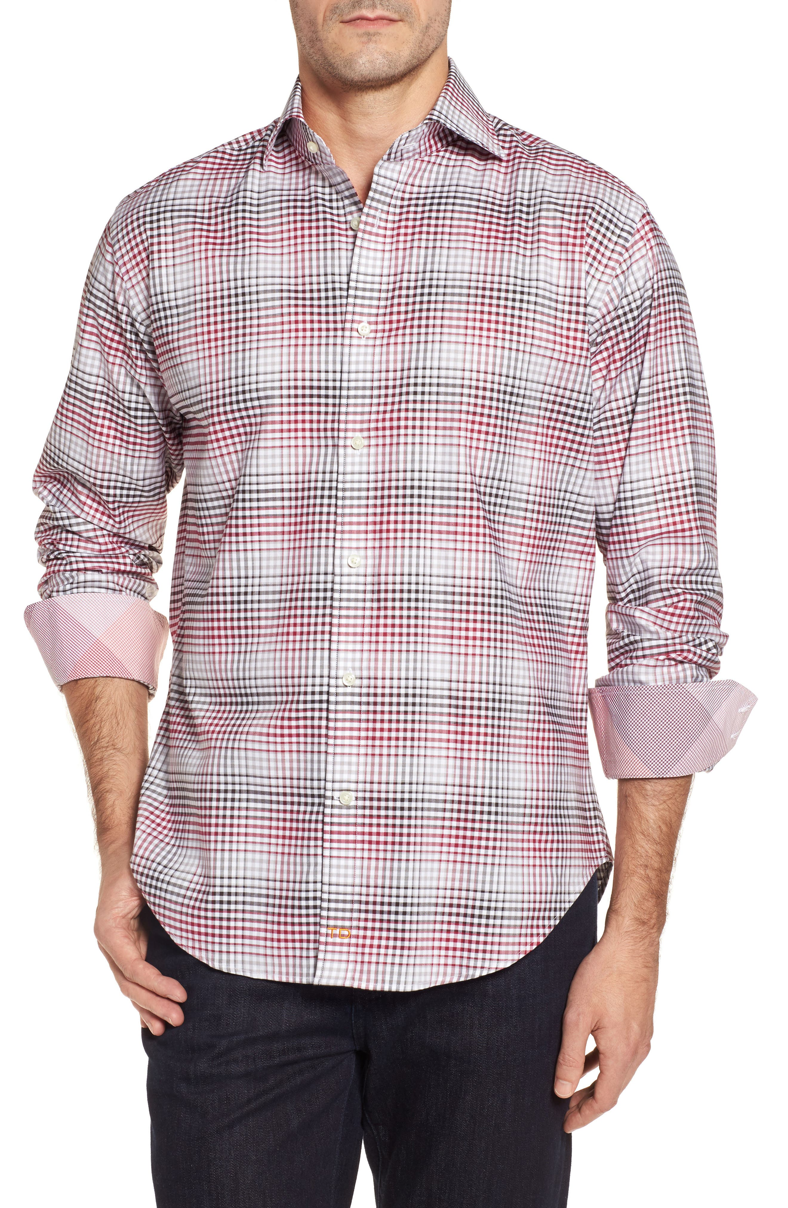 Regular Fit Check Sport Shirt,                             Main thumbnail 1, color,