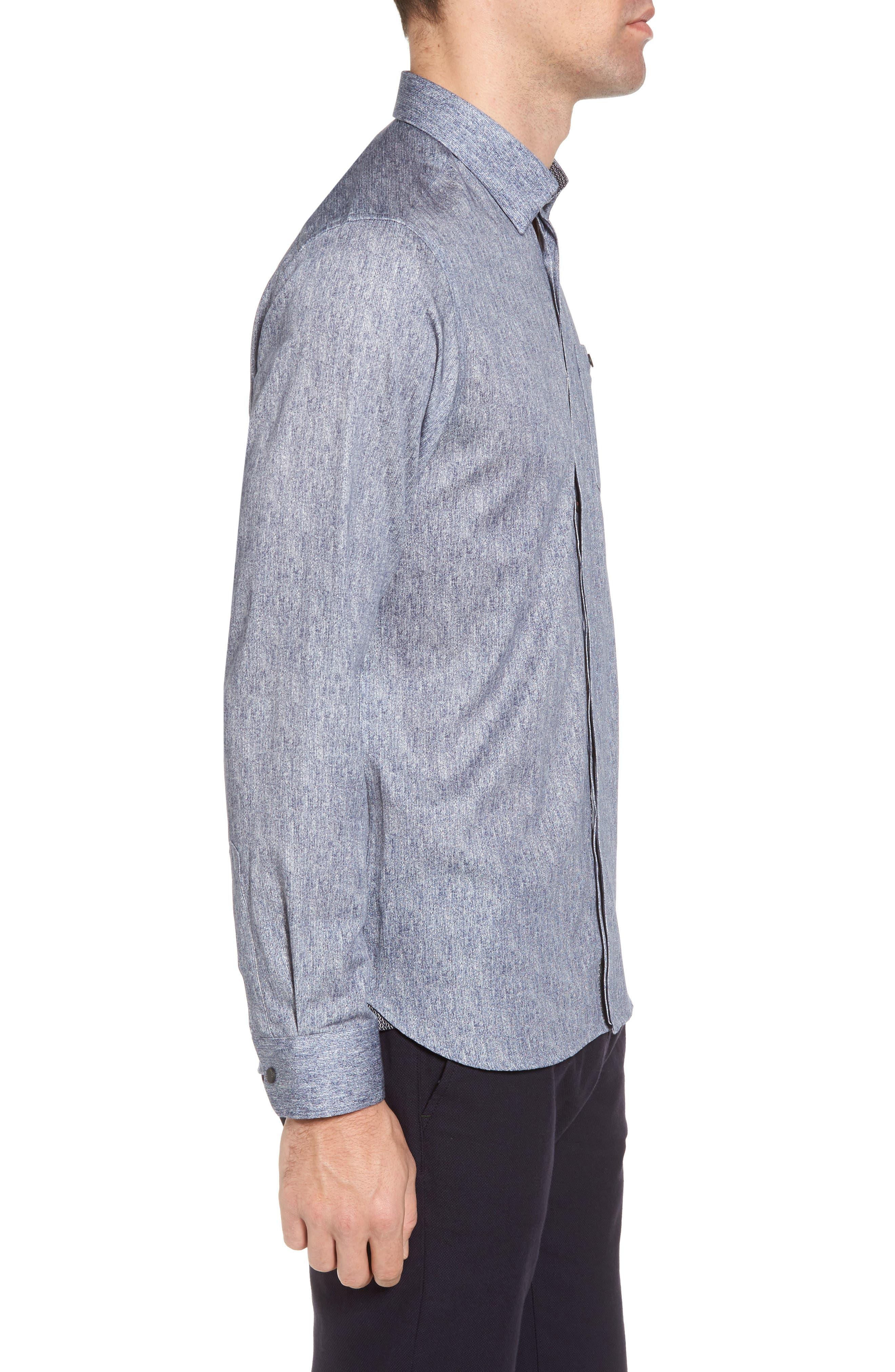 Lili Slim Fit Herringbone Sport Shirt,                             Alternate thumbnail 3, color,                             421
