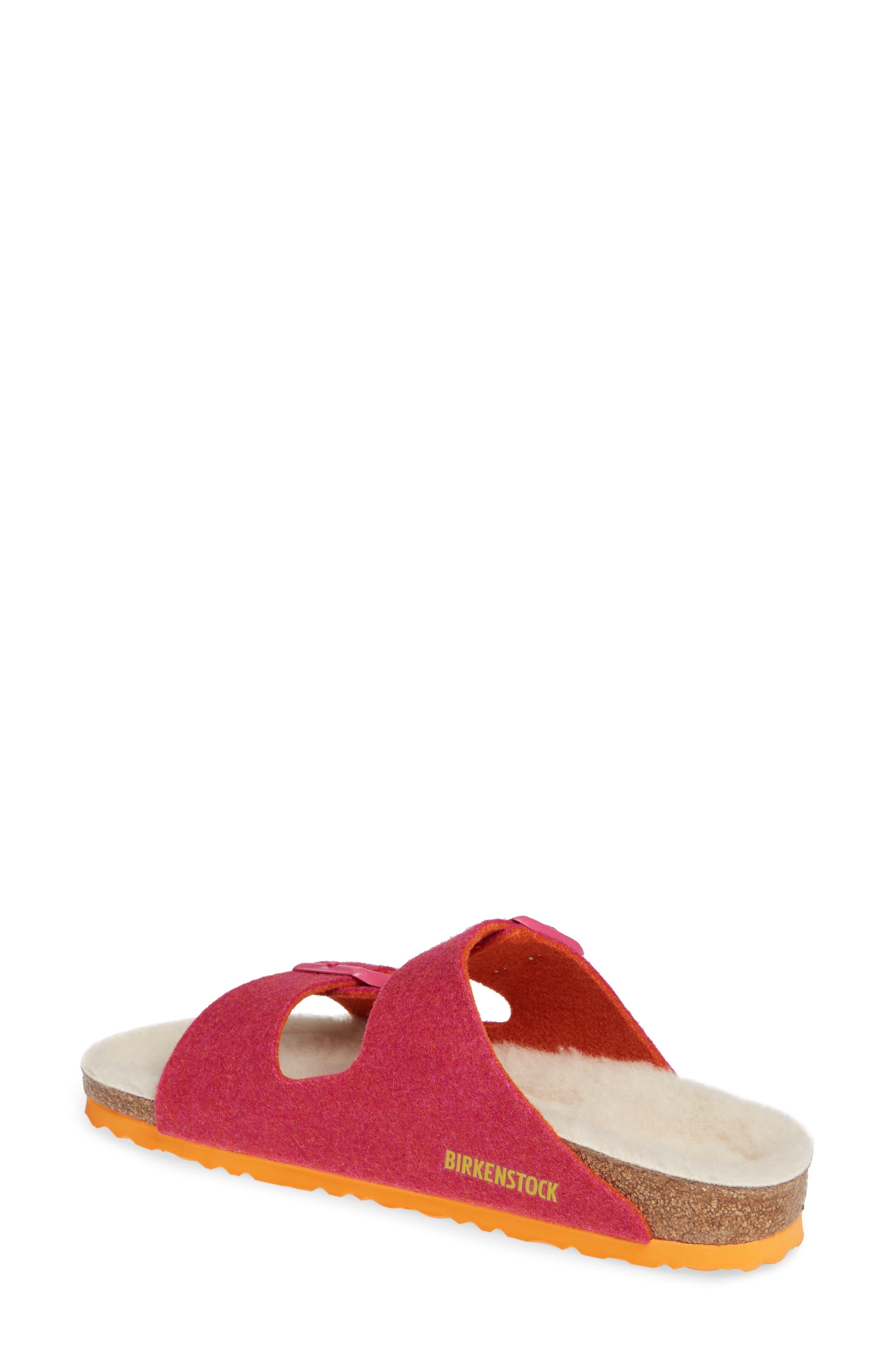 Arizona Happy Slide Sandal,                             Alternate thumbnail 2, color,                             FUCHSIA WOOL