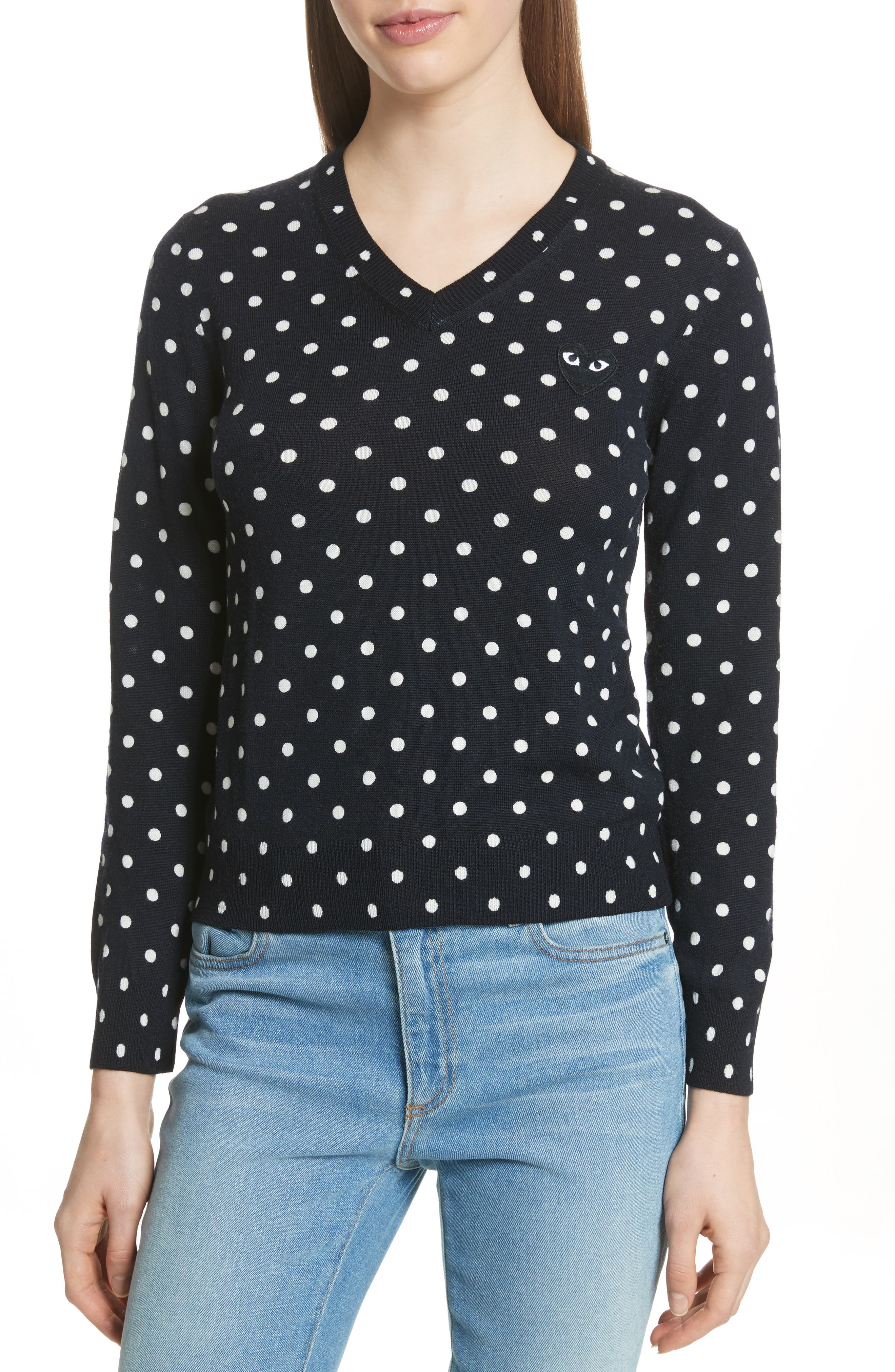 Black Heart Pullover,                         Main,                         color, NAVY