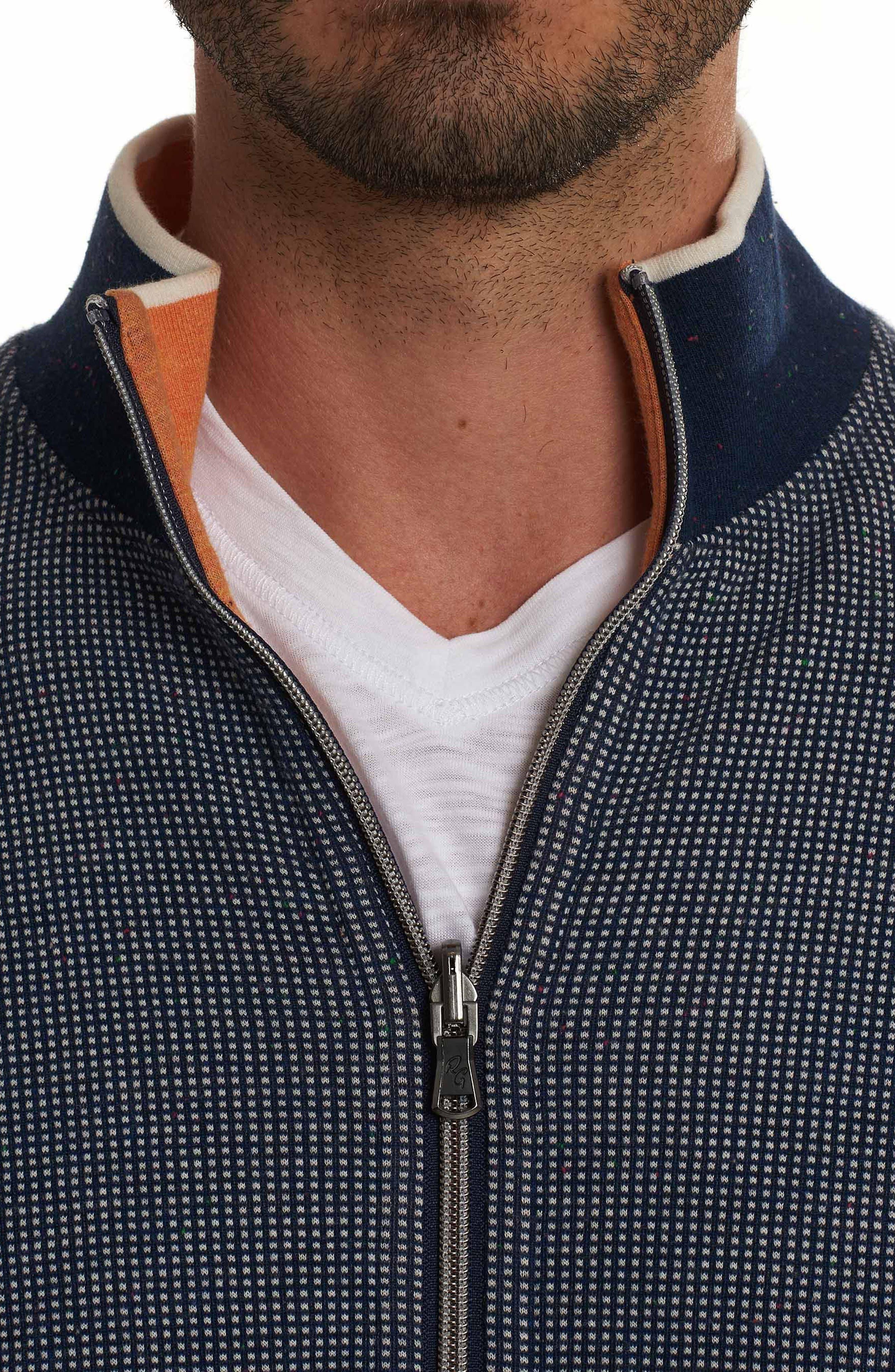 Rivers Front Zip Knit Jacket,                             Alternate thumbnail 3, color,                             410