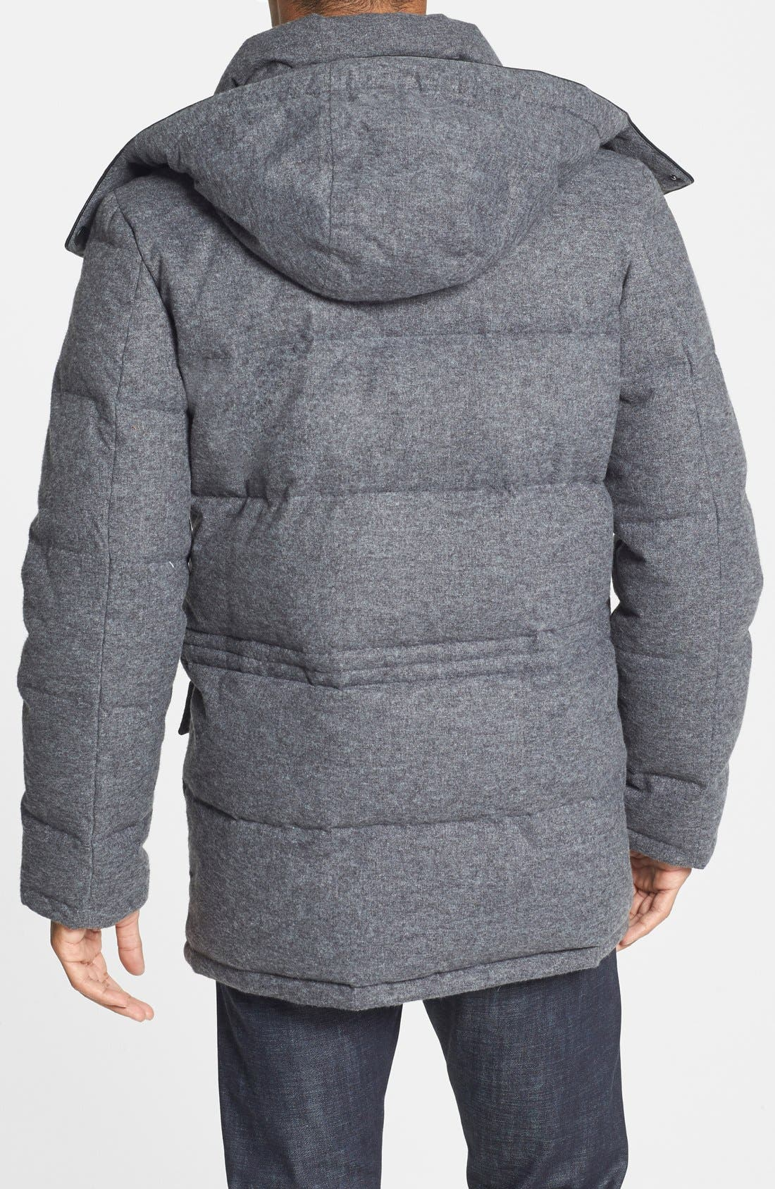 680-Down Fill Quilted Hooded Parka,                             Alternate thumbnail 5, color,