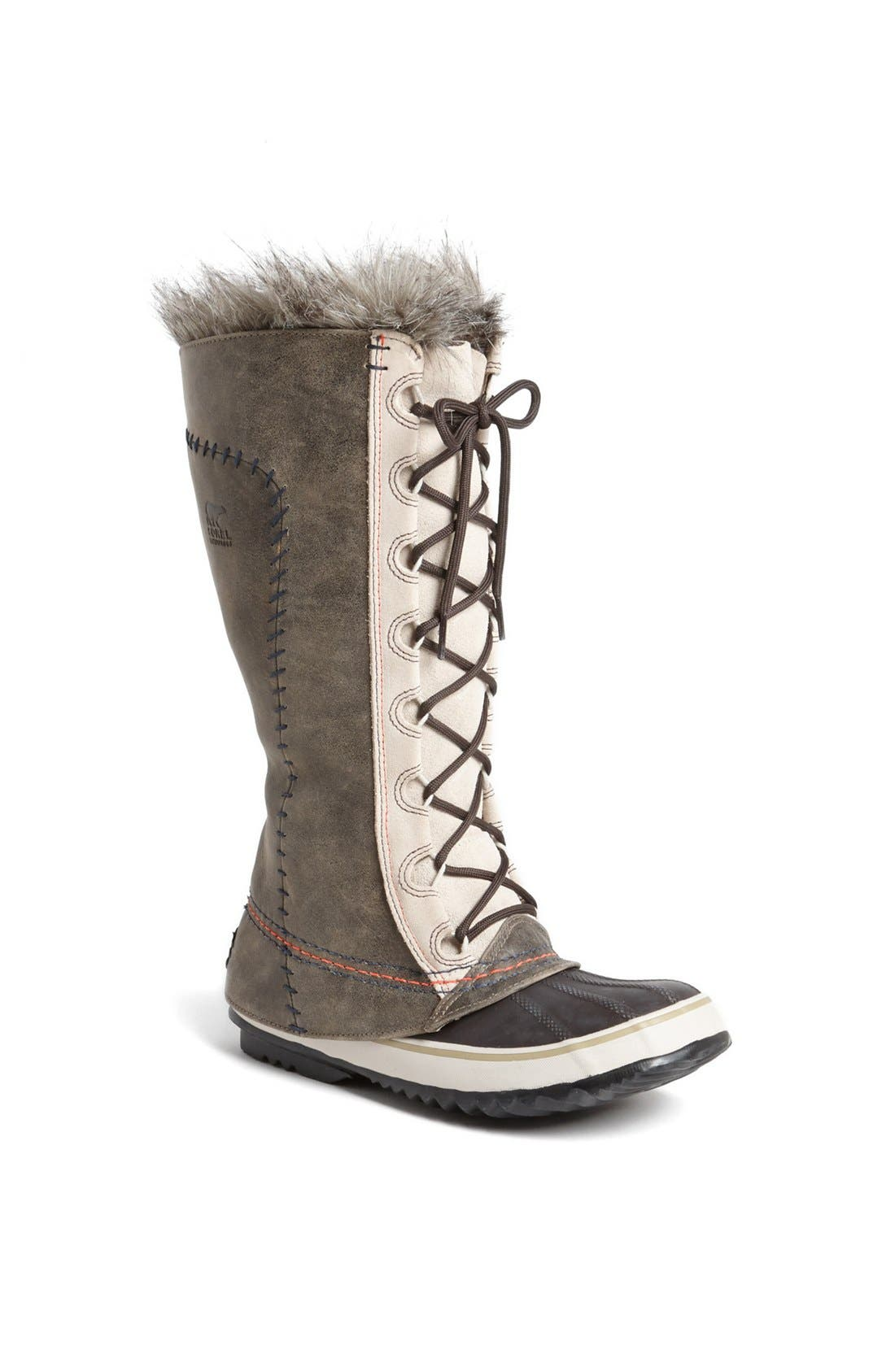 'Cate the Great - Deco' Waterproof Suede Duck Boot, Main, color, 099