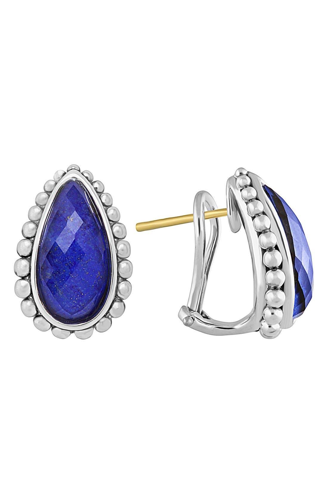 'Maya' Stud Earrings,                         Main,                         color, BLUE