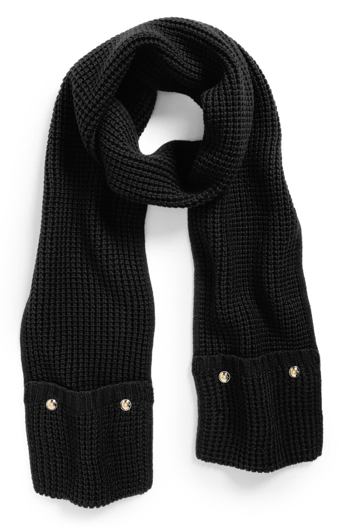 Thermal Pocket Scarf,                         Main,                         color, 001