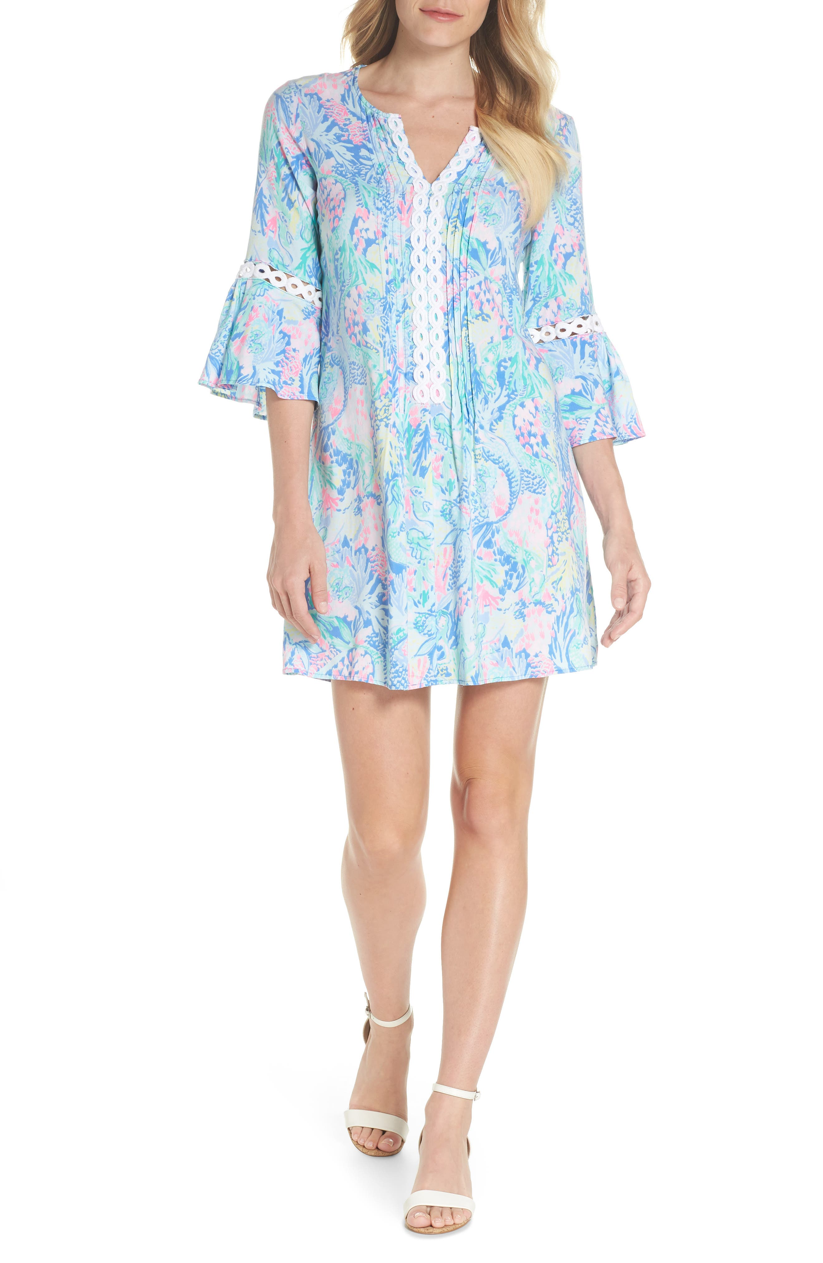 LILLY PULITZER<SUP>®</SUP>,                             Hollie Tunic Dress,                             Alternate thumbnail 5, color,                             MULTI MERMAIDS COVE