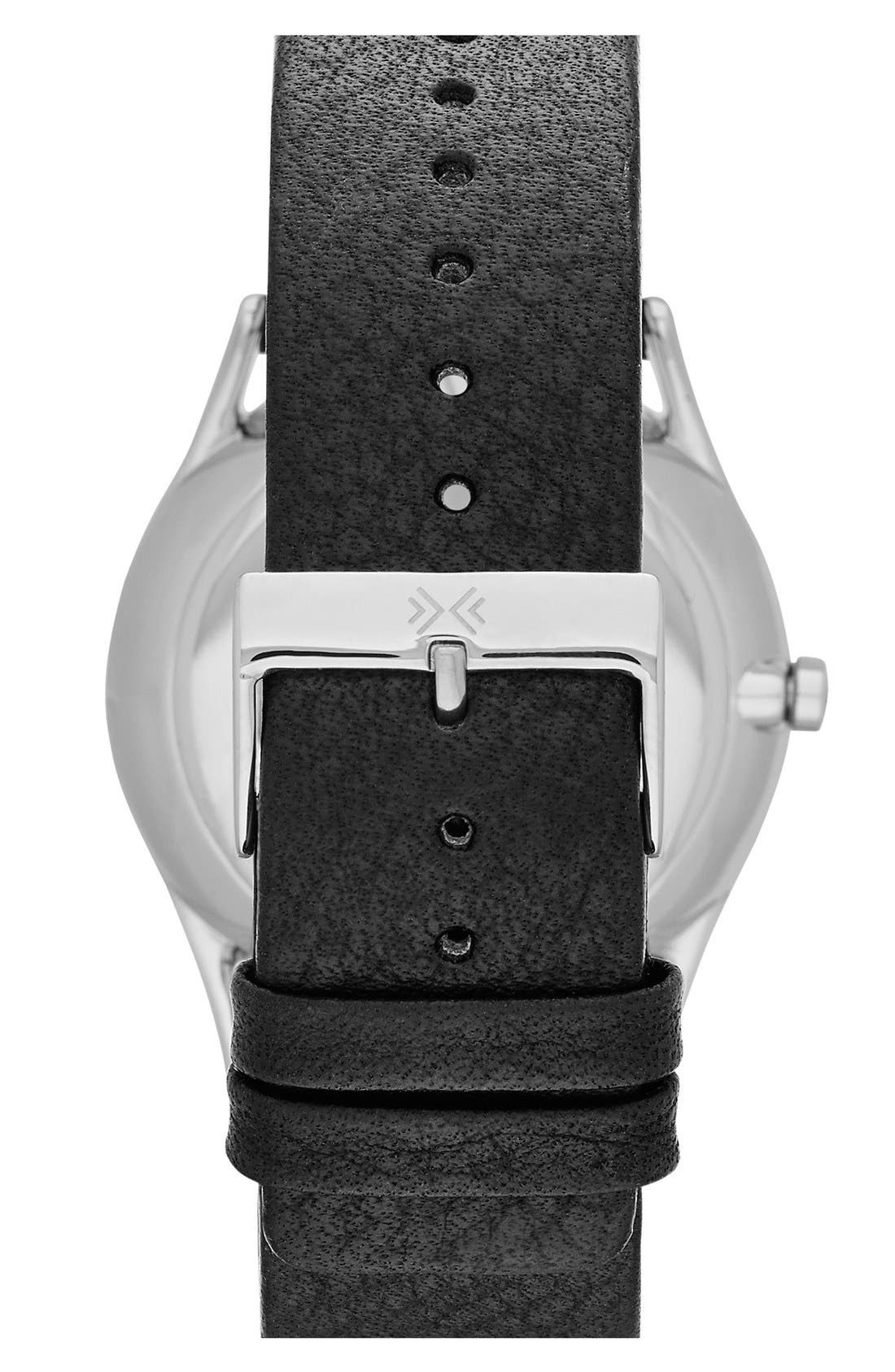 SKAGEN,                             'Holst' Multifunction Leather Strap Watch, 40mm,                             Alternate thumbnail 2, color,                             001