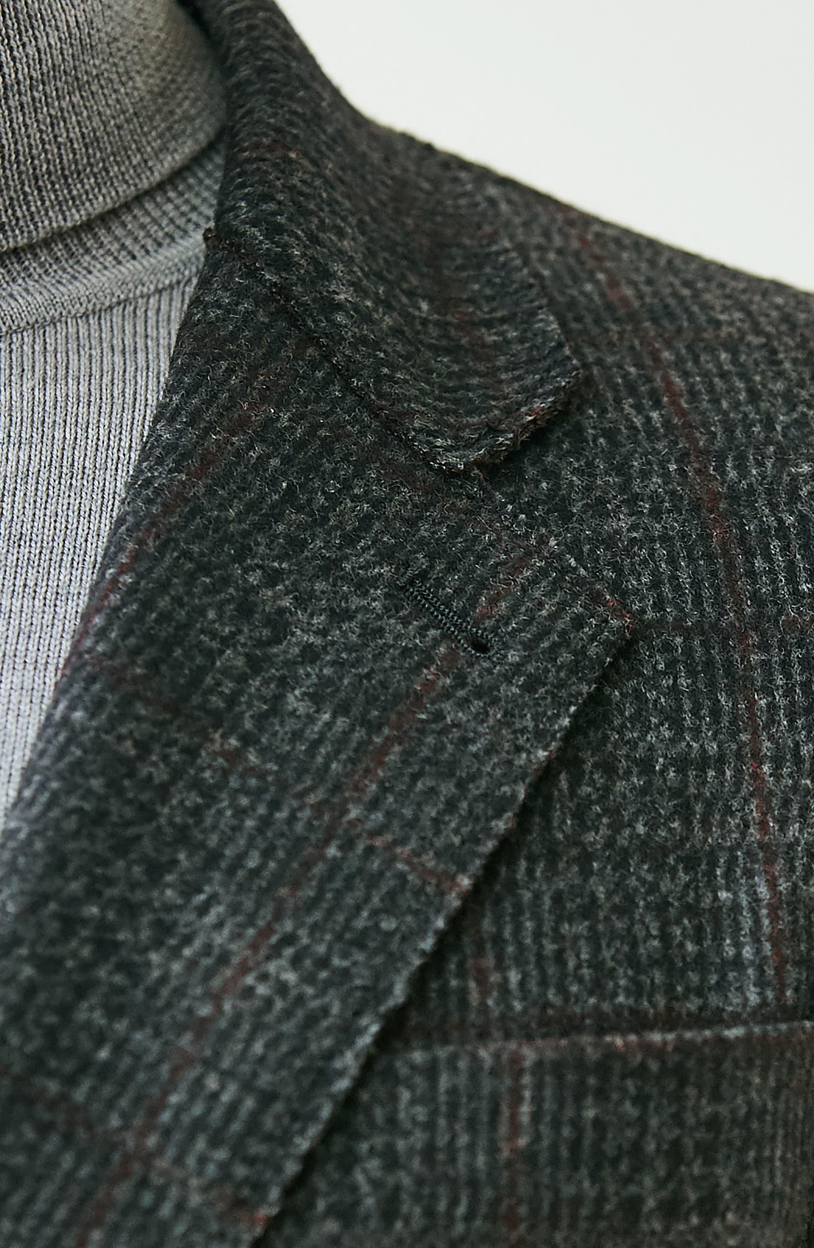 Plaid Wool Blazer,                             Alternate thumbnail 9, color,                             037