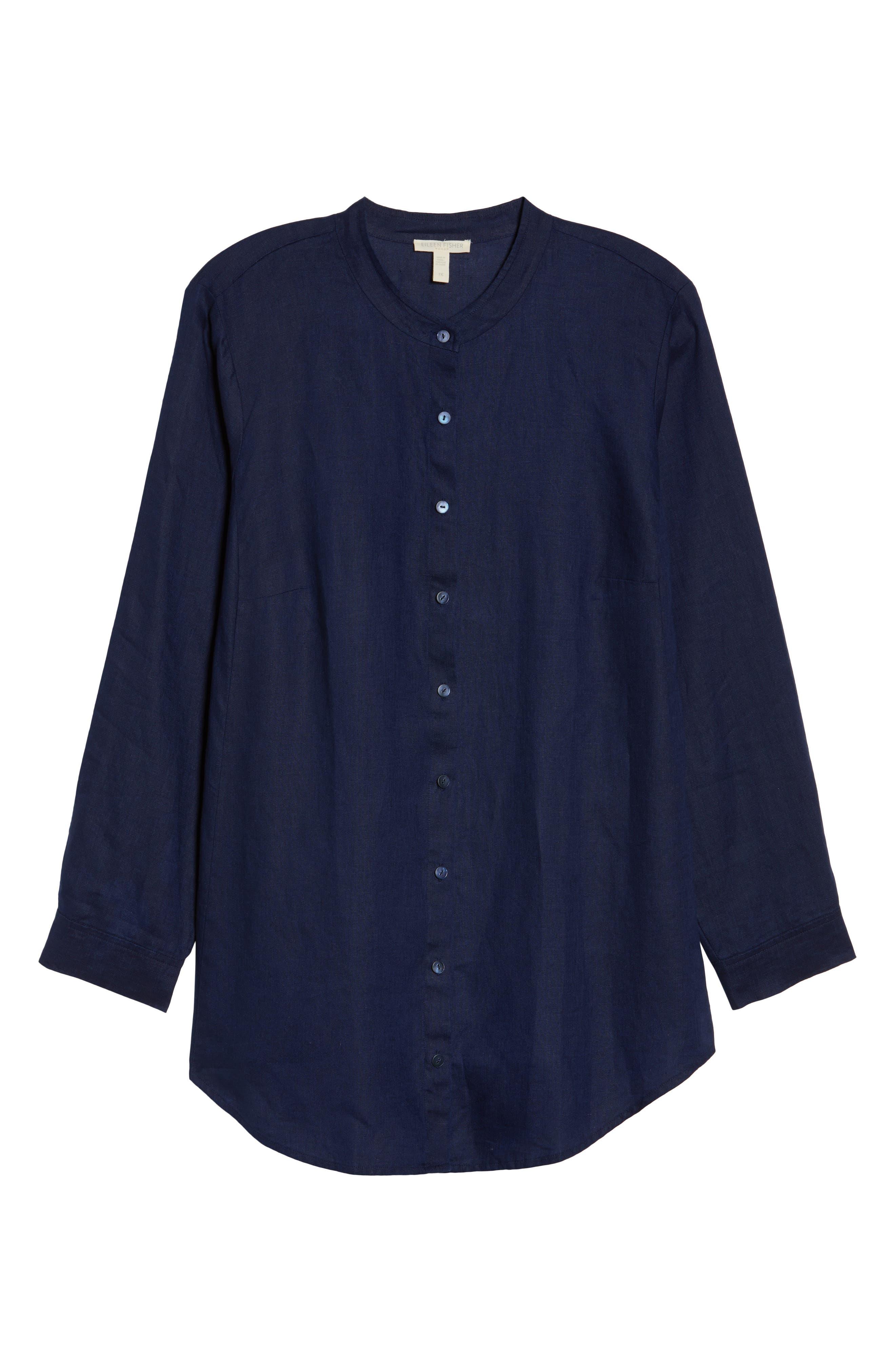 Organic Linen Tunic Shirt,                             Alternate thumbnail 18, color,
