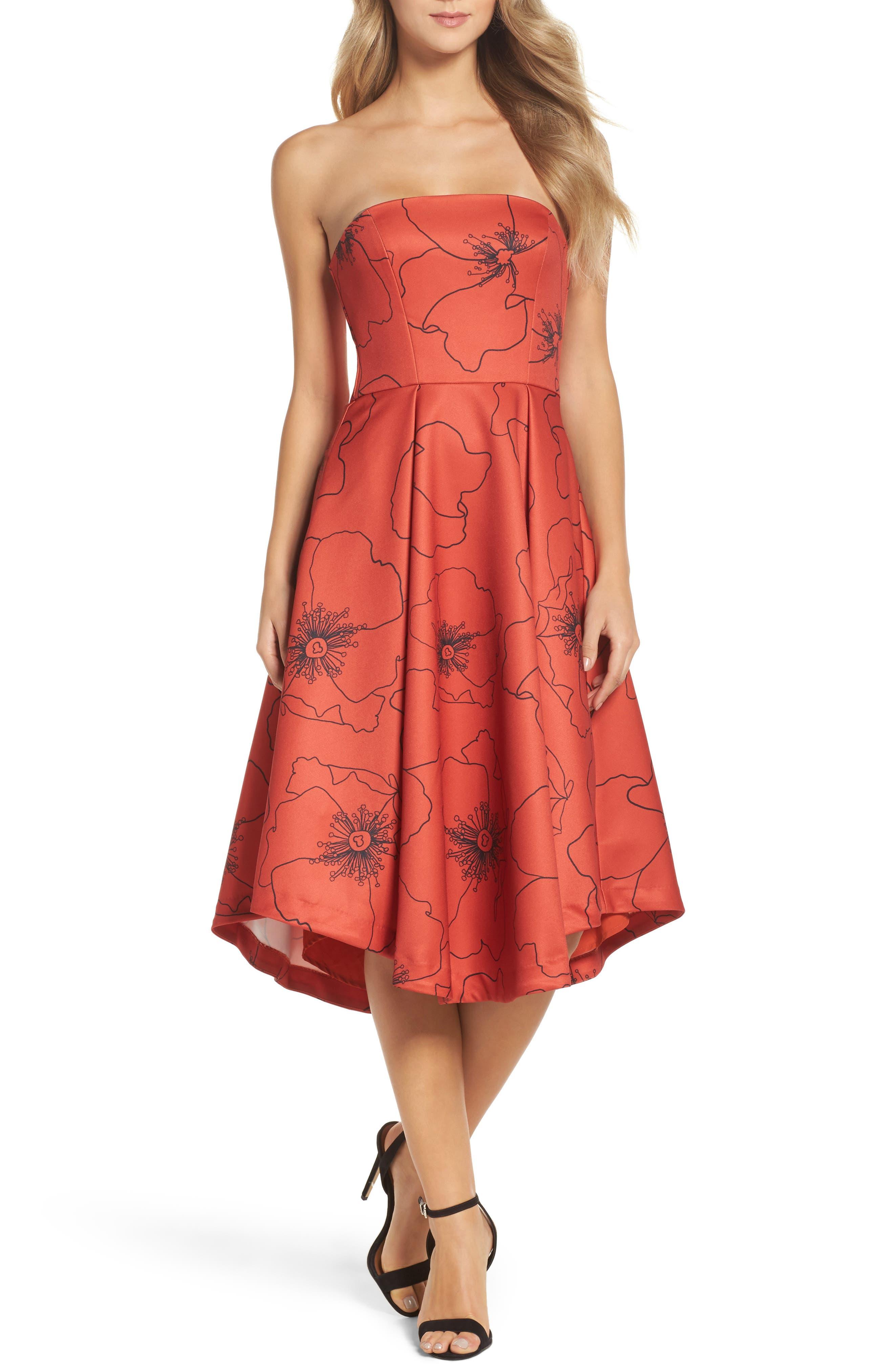 Burnt Fields Strapless Dress,                             Main thumbnail 1, color,                             606