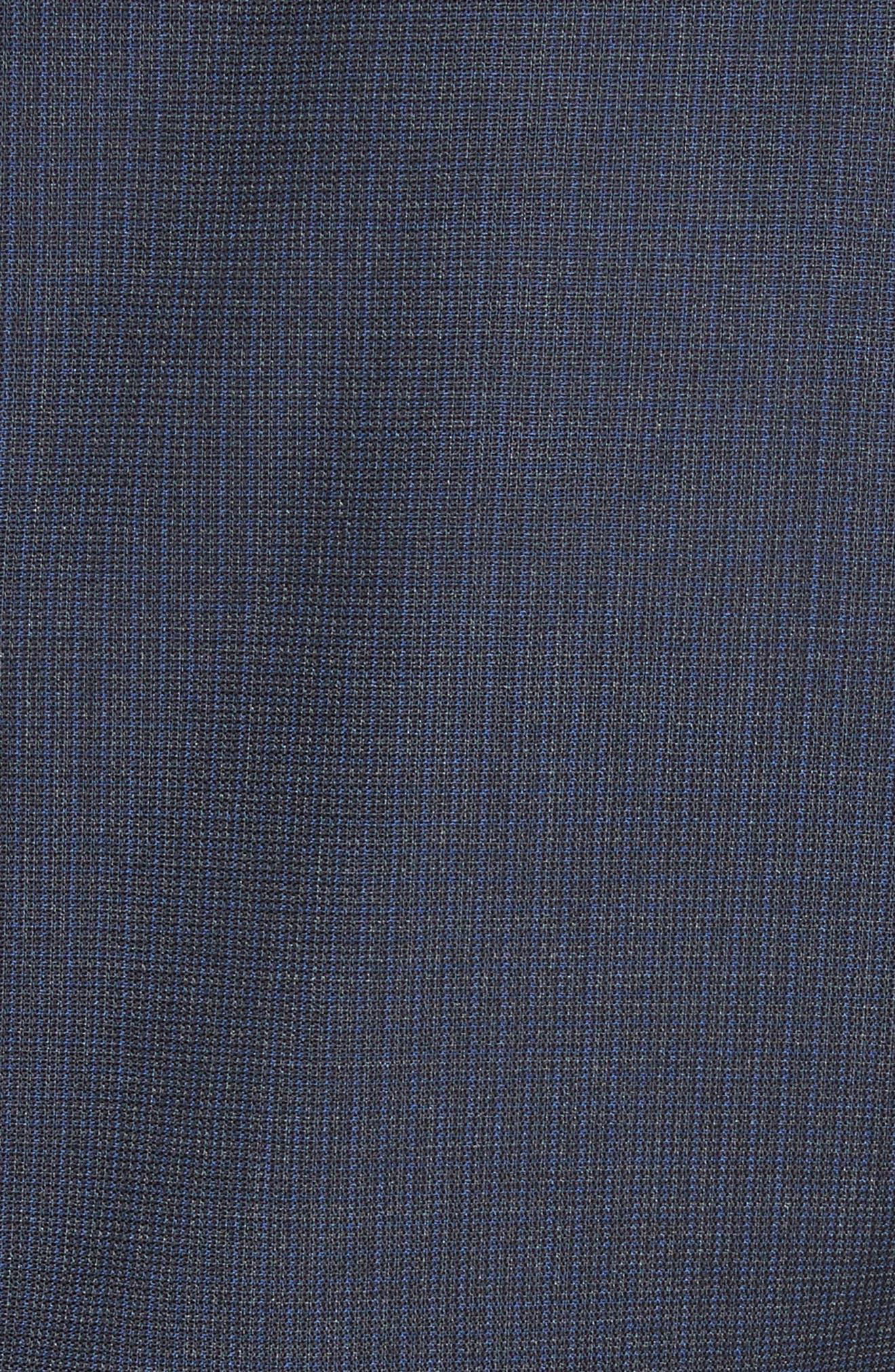 Emporio Armani M-Line Trim Fit Solid Wool Suit,                             Alternate thumbnail 7, color,