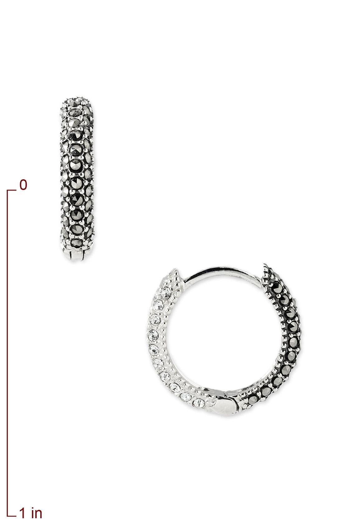 Reversible Hoop Earrings,                             Alternate thumbnail 2, color,                             040