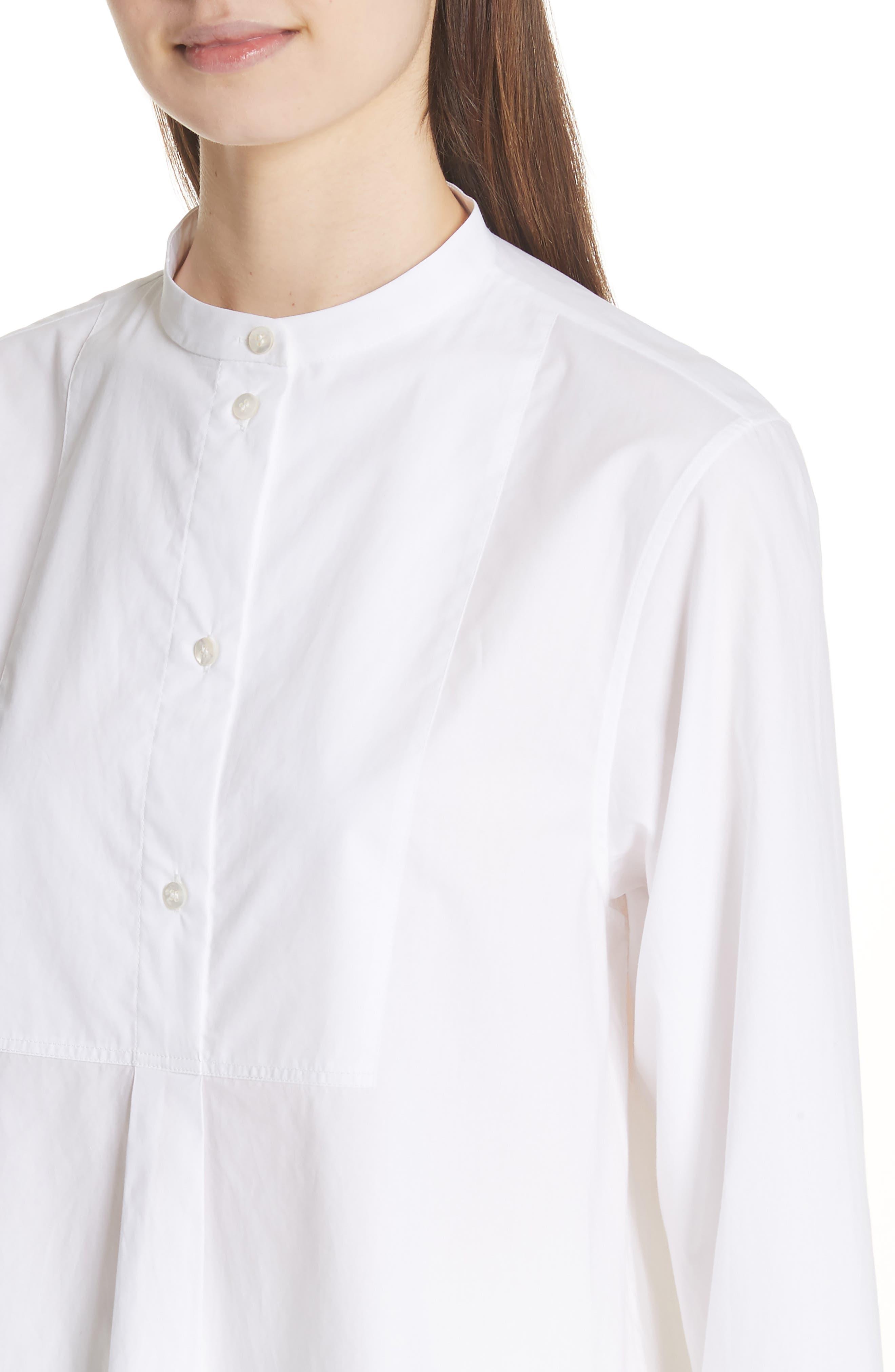 Lysanne Poplin Shirt,                             Alternate thumbnail 4, color,                             100