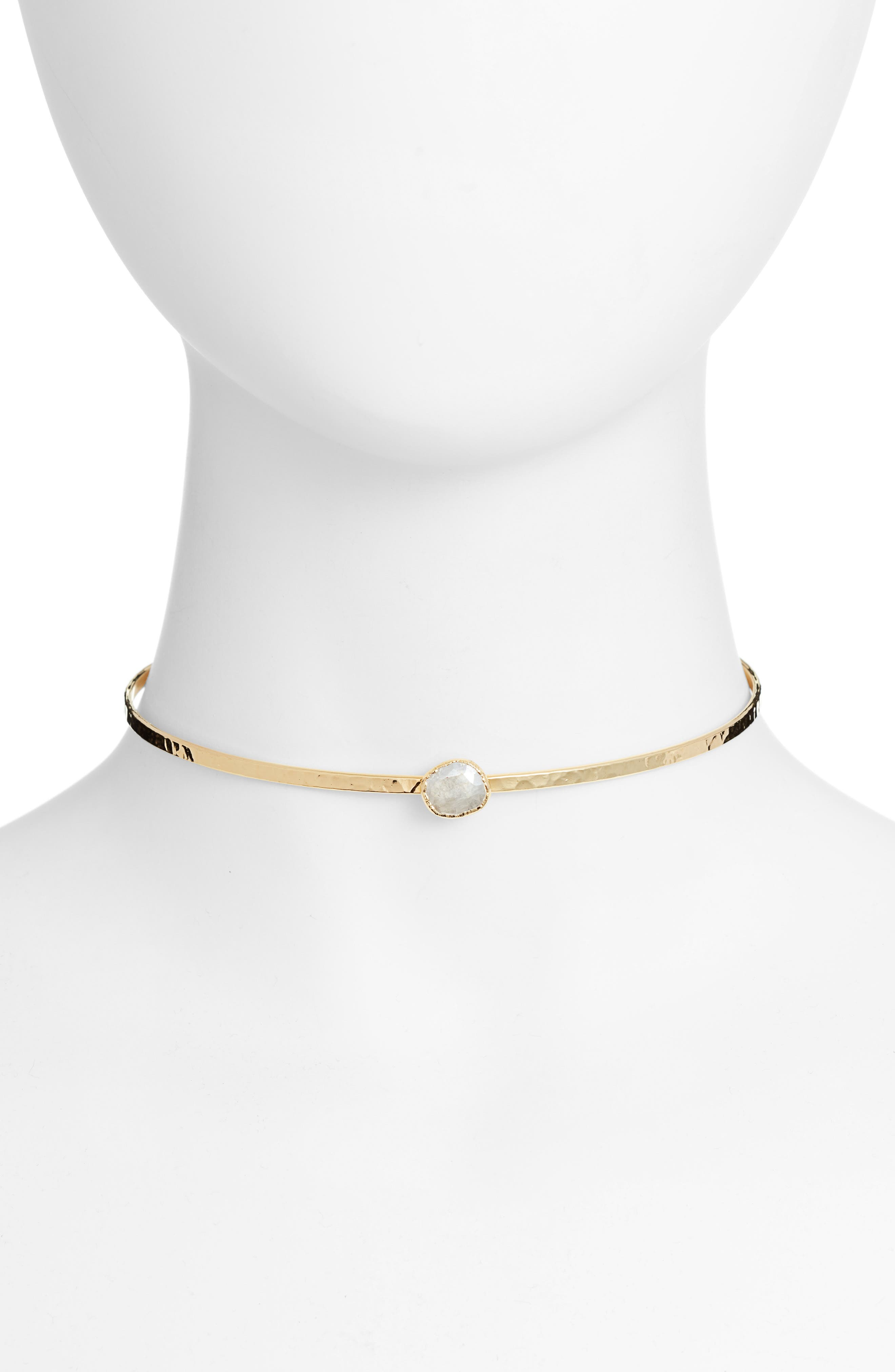 Abyss Choker, Main, color, GOLD/ WHITE SILVERITE