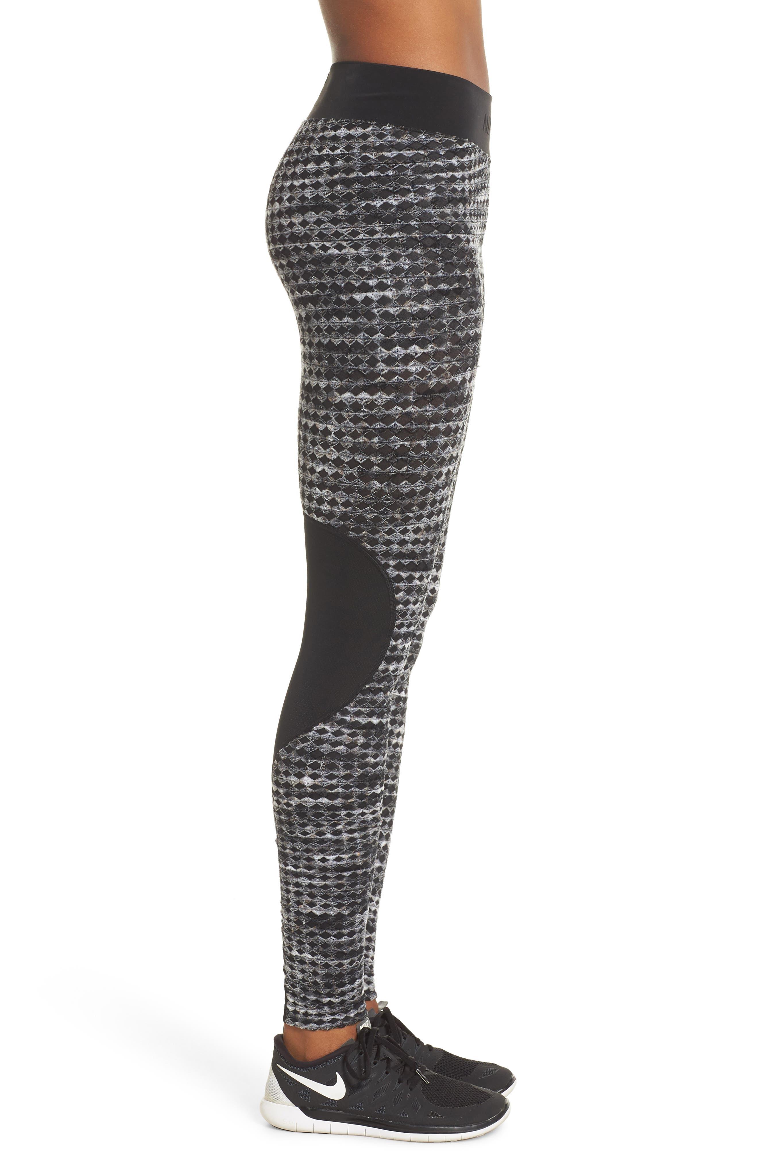 Pro HyperWarm Leggings,                             Alternate thumbnail 3, color,                             BLACK/ BLACK