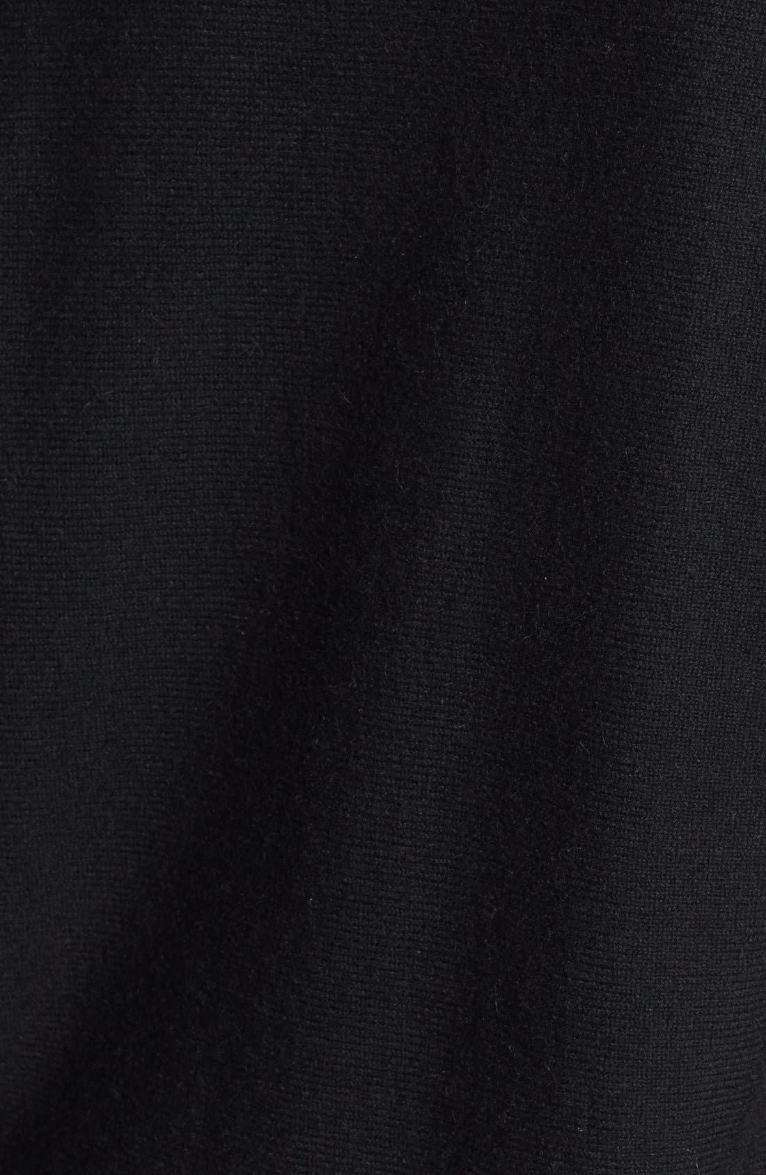 High/Low Cashmere Tunic Sweater,                             Alternate thumbnail 2, color,                             001