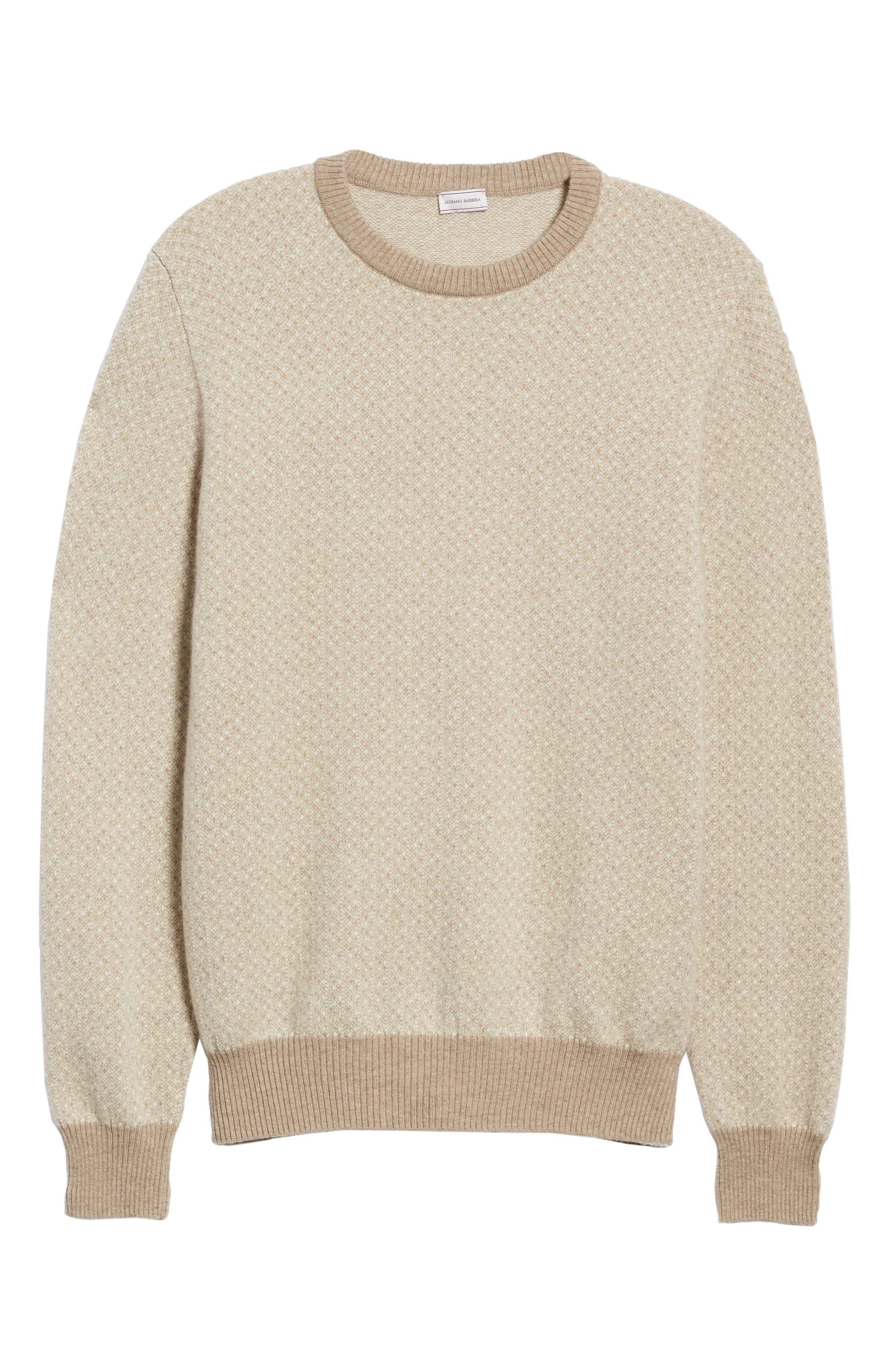 Crewneck Cashmere Sweater,                             Alternate thumbnail 6, color,                             BEIGE
