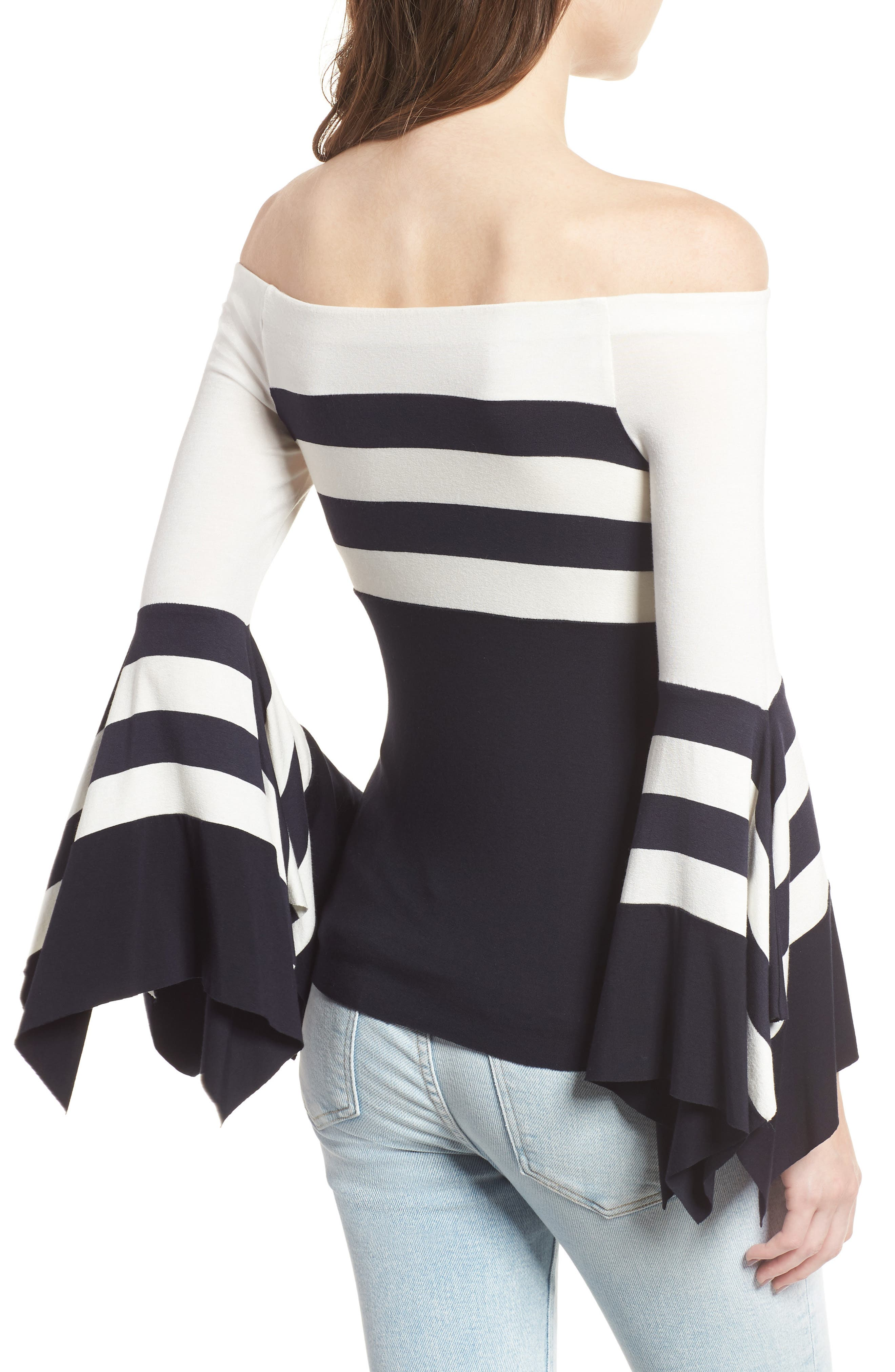 Bluebell Statement Sleeve Off the Shoulder Top,                             Alternate thumbnail 2, color,                             494