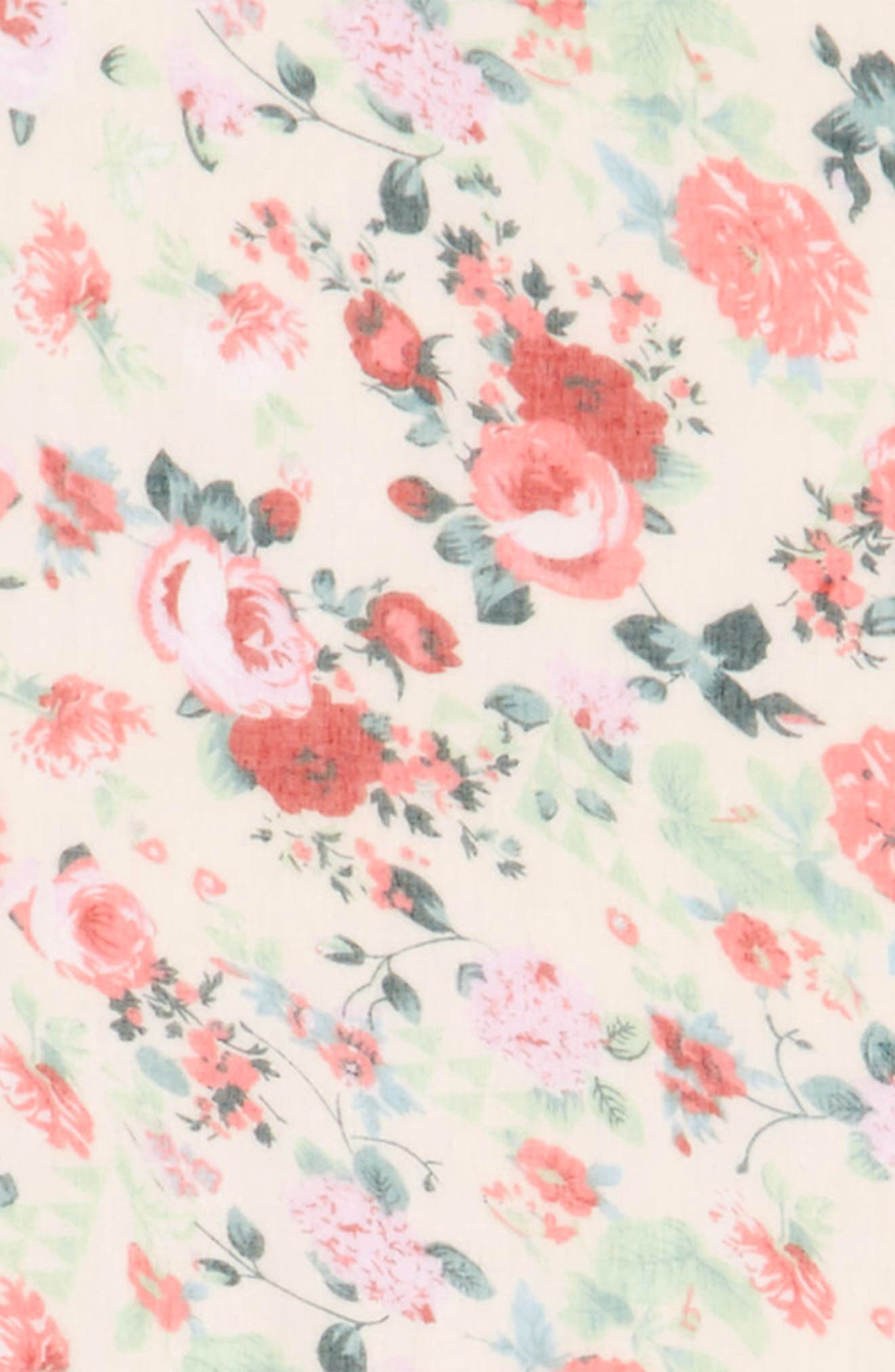 Accessory Collective Floral Print Scarf,                             Alternate thumbnail 3, color,                             100