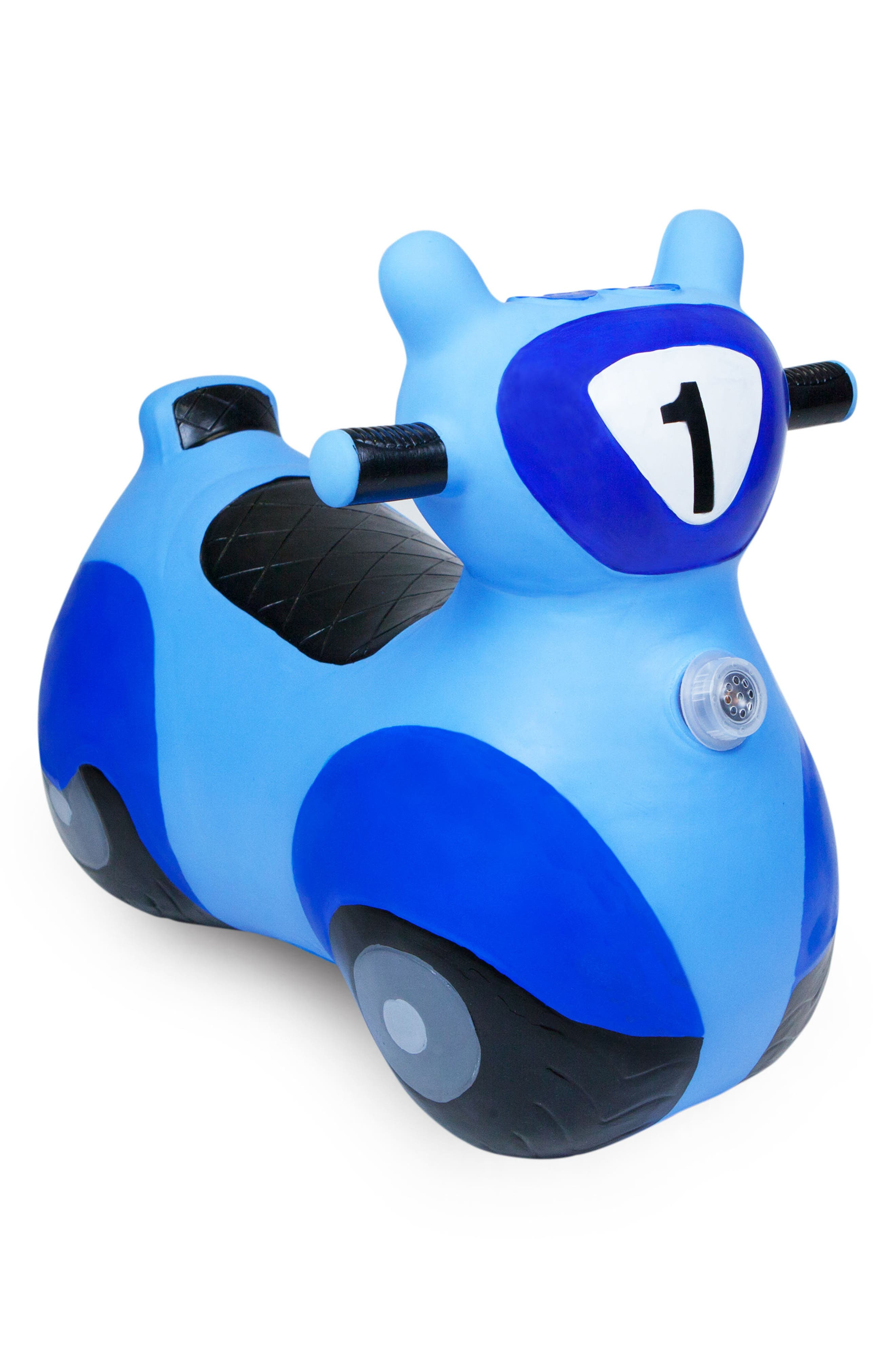 Scooter Bouncy Ride-On Scooter Toy,                         Main,                         color, BLUE