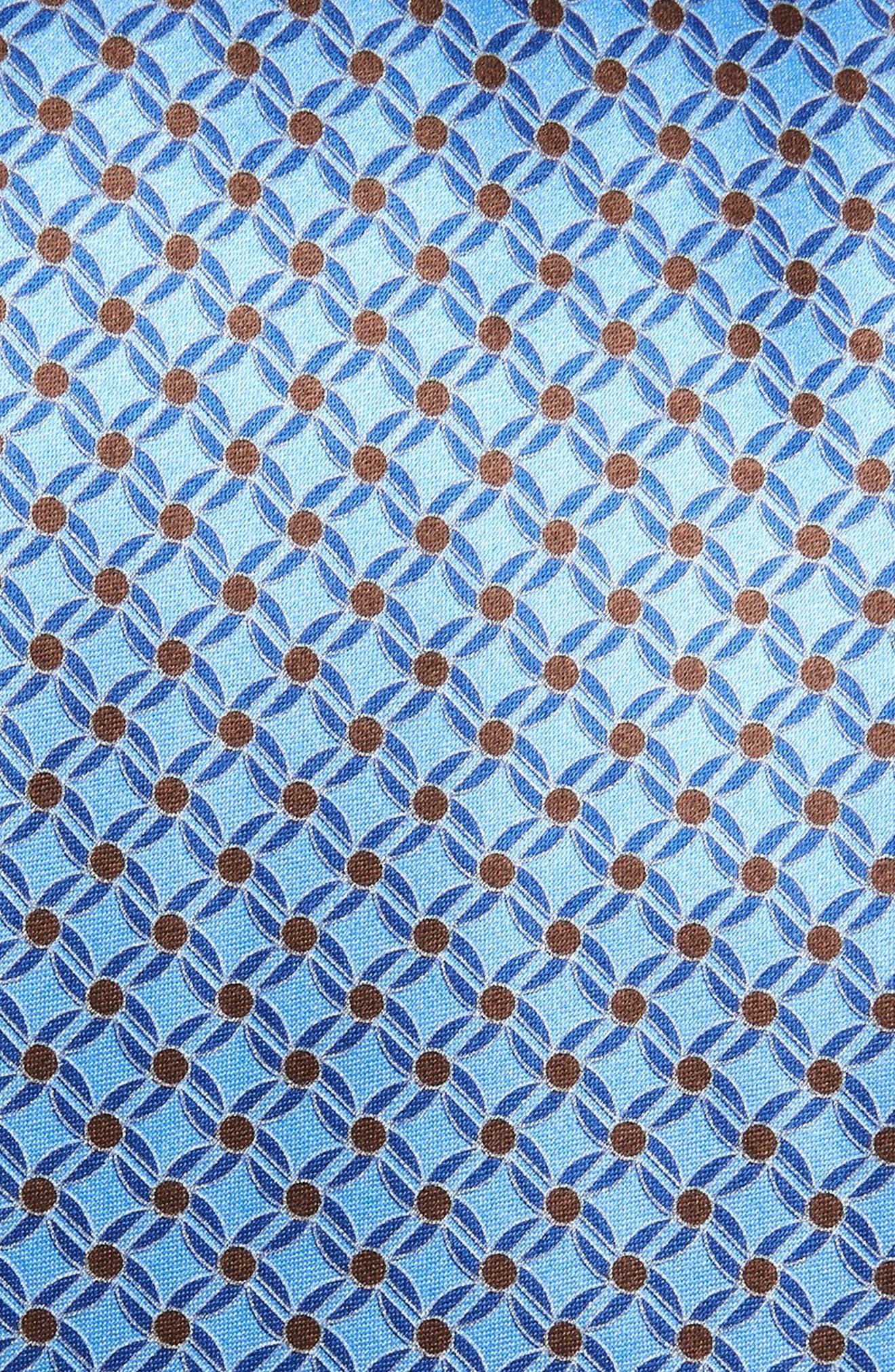 Geometric Silk Tie,                             Alternate thumbnail 2, color,                             LIGHT BLUE