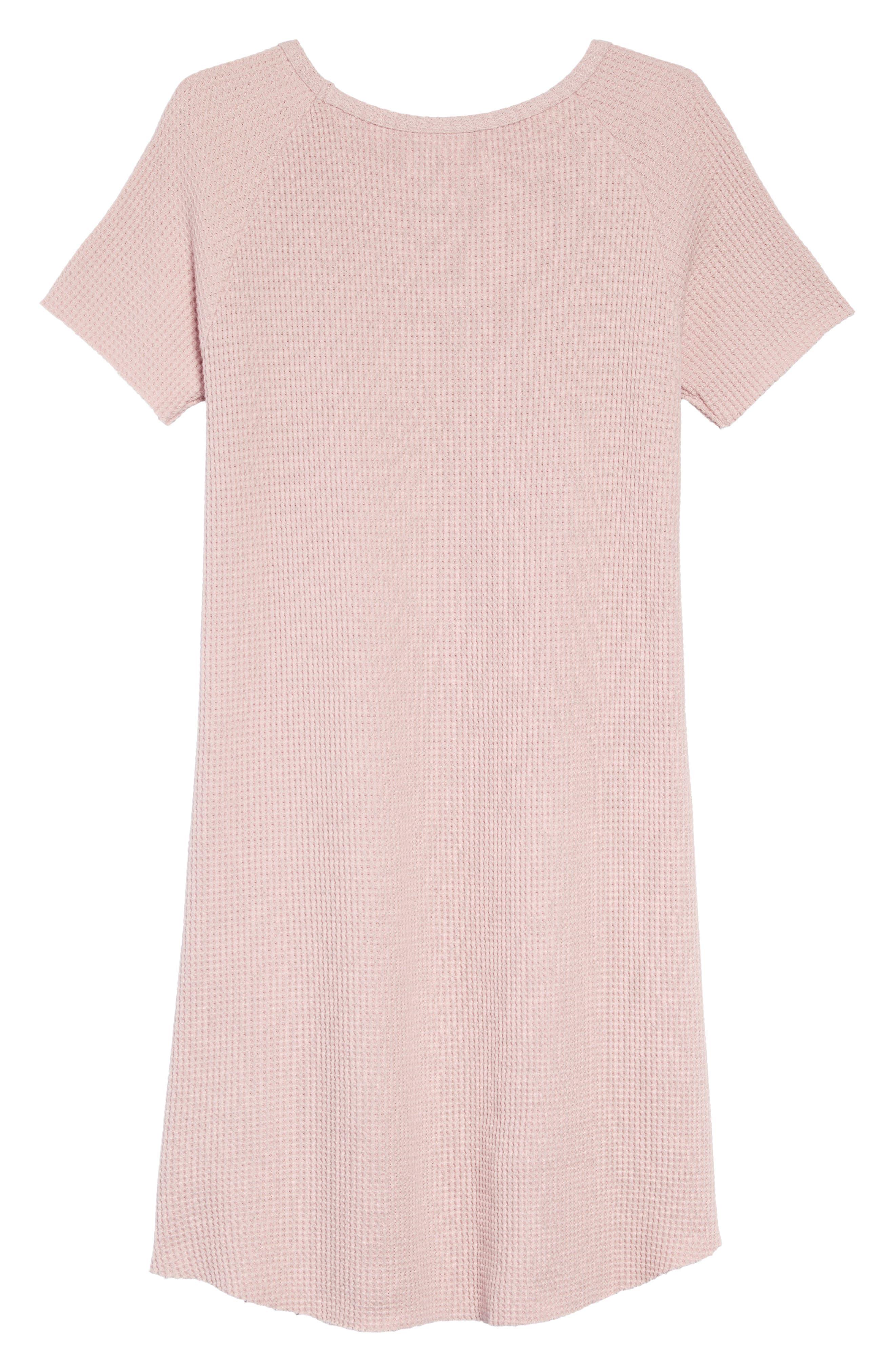 Waffle Knit T-Shirt Dress,                             Alternate thumbnail 2, color,                             680