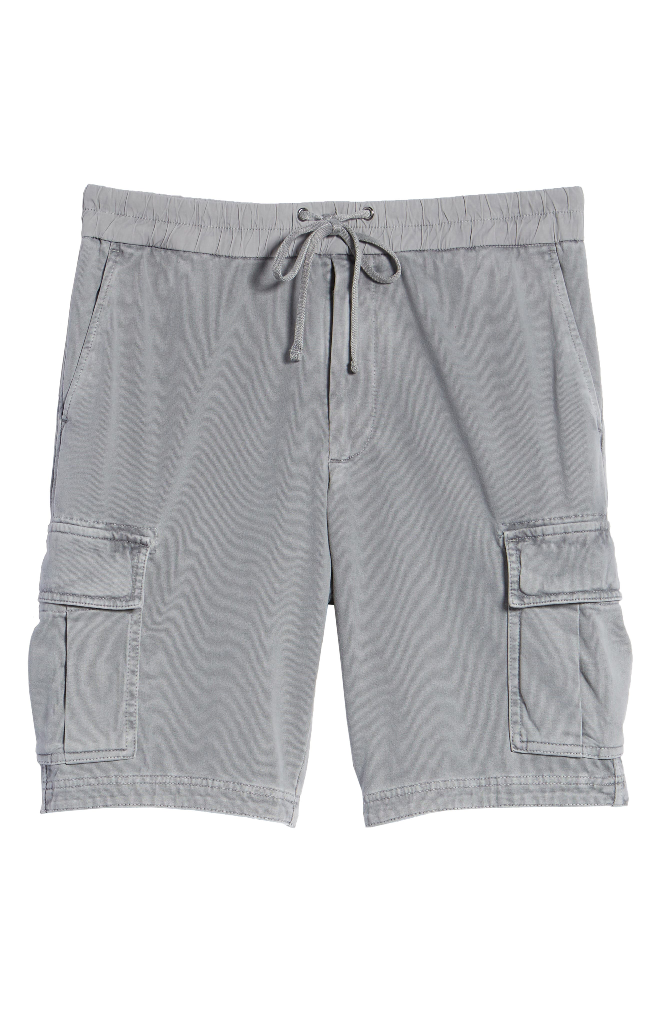 Heavy Jersey Cargo Shorts,                             Alternate thumbnail 6, color,                             BREEZE PIGMENT