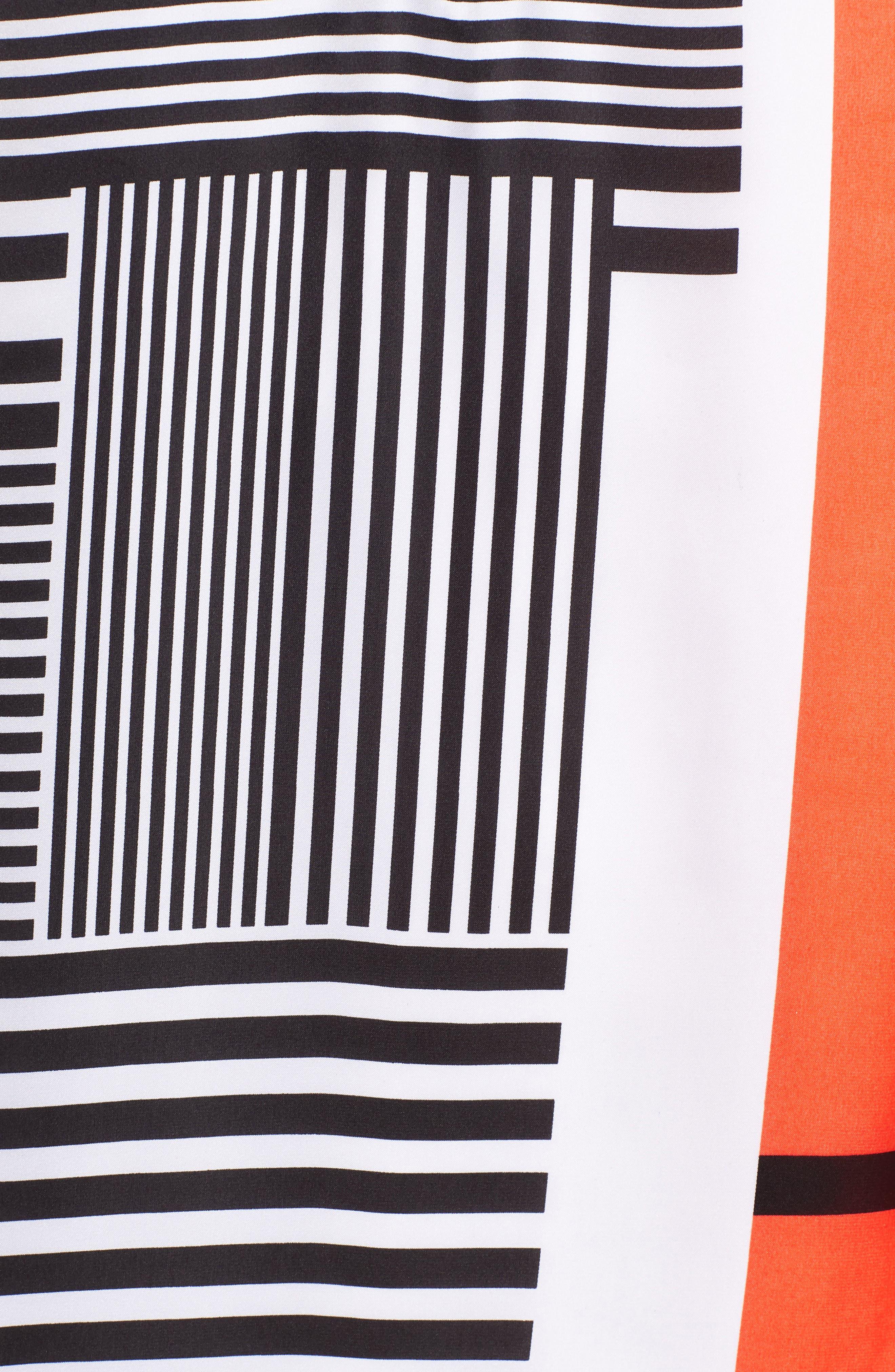 Mix Stripe V-Neck Shift Dress,                             Alternate thumbnail 7, color,                             800