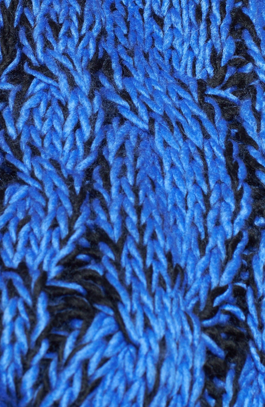 Cable Knit Infinity Scarf,                             Alternate thumbnail 3, color,                             001