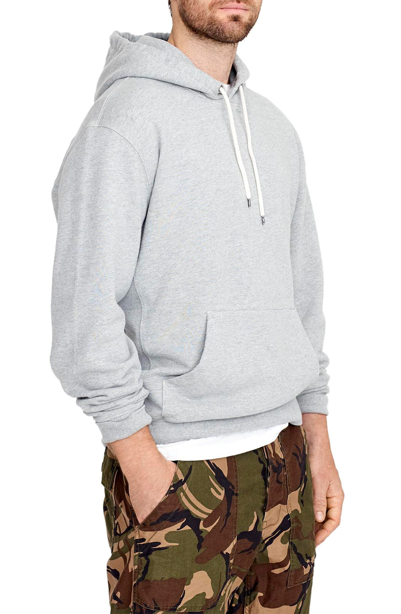 French Terry Pullover Hoodie,                             Alternate thumbnail 3, color,                             021