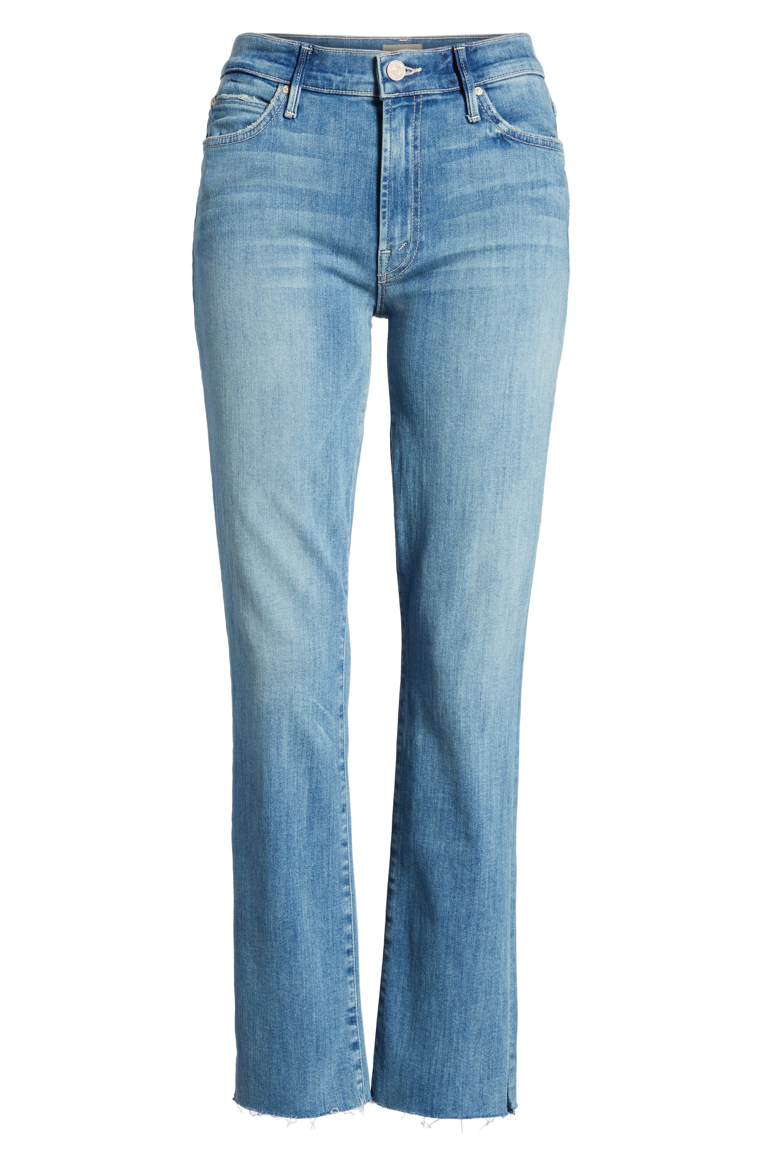 MOTHER,                             The Rascal Ankle Snippet Straight Leg Jeans,                             Alternate thumbnail 7, color,                             400