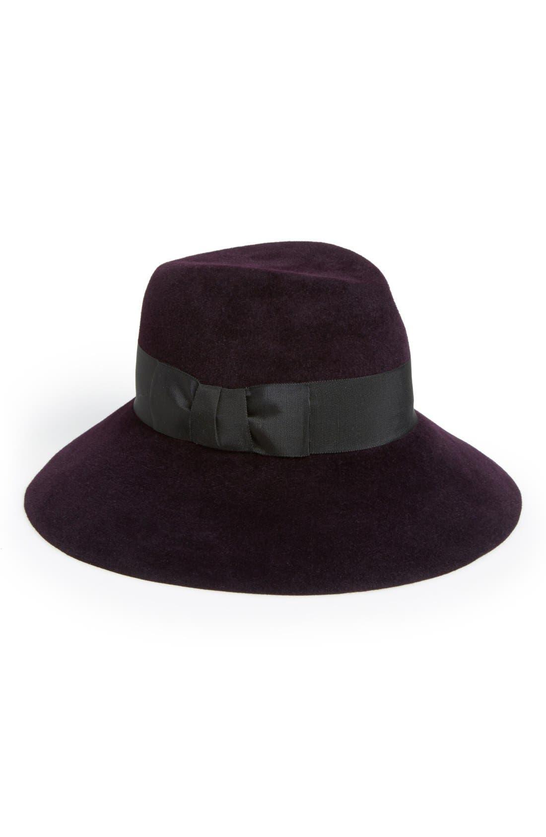 Rabbit Hair Felt Hat,                             Main thumbnail 4, color,