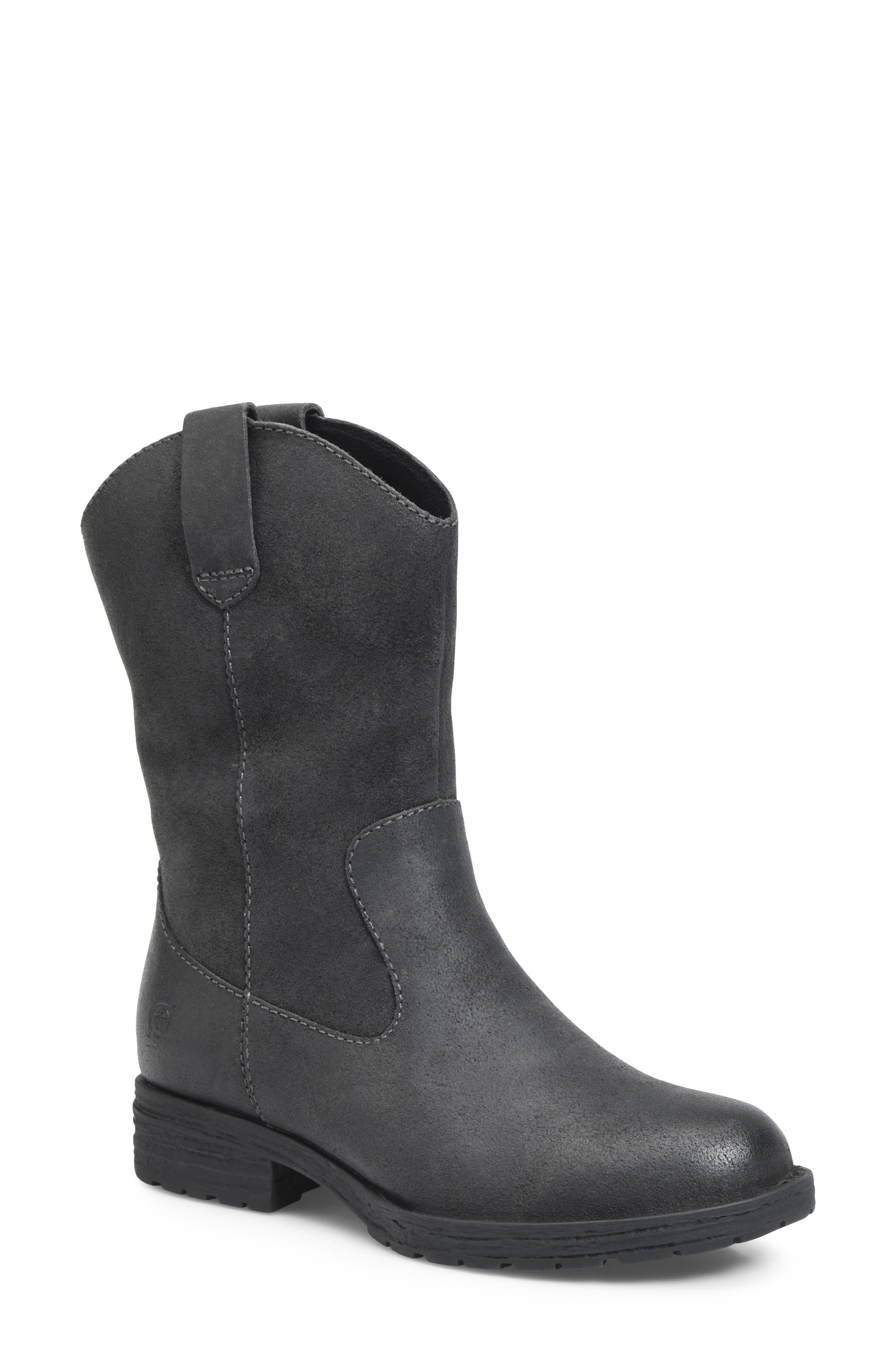 B?rn Basin Waterproof Western Boot, Grey