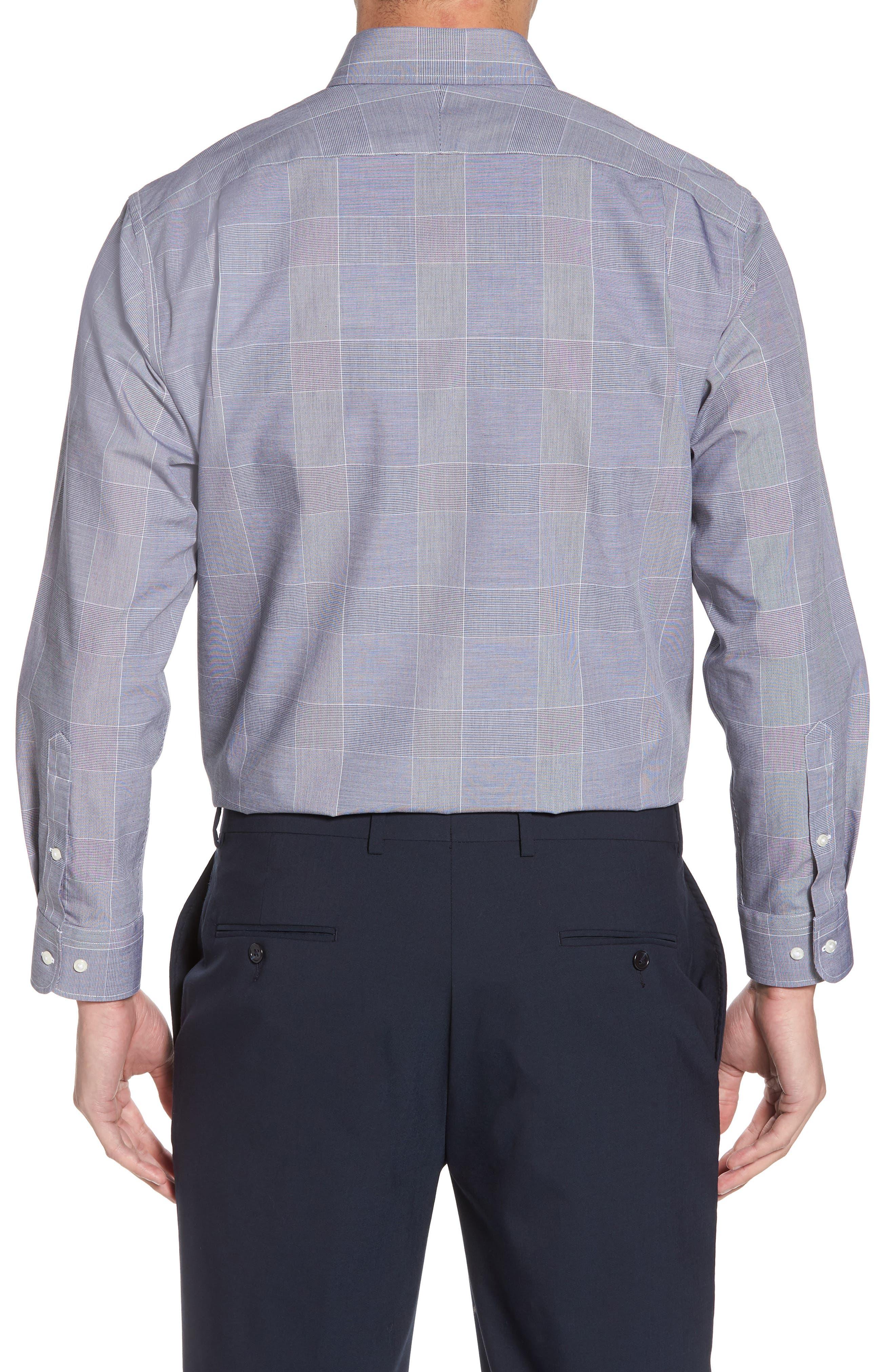 Smartcare<sup>™</sup> Traditional Fit Plaid Dress Shirt,                             Alternate thumbnail 3, color,                             401
