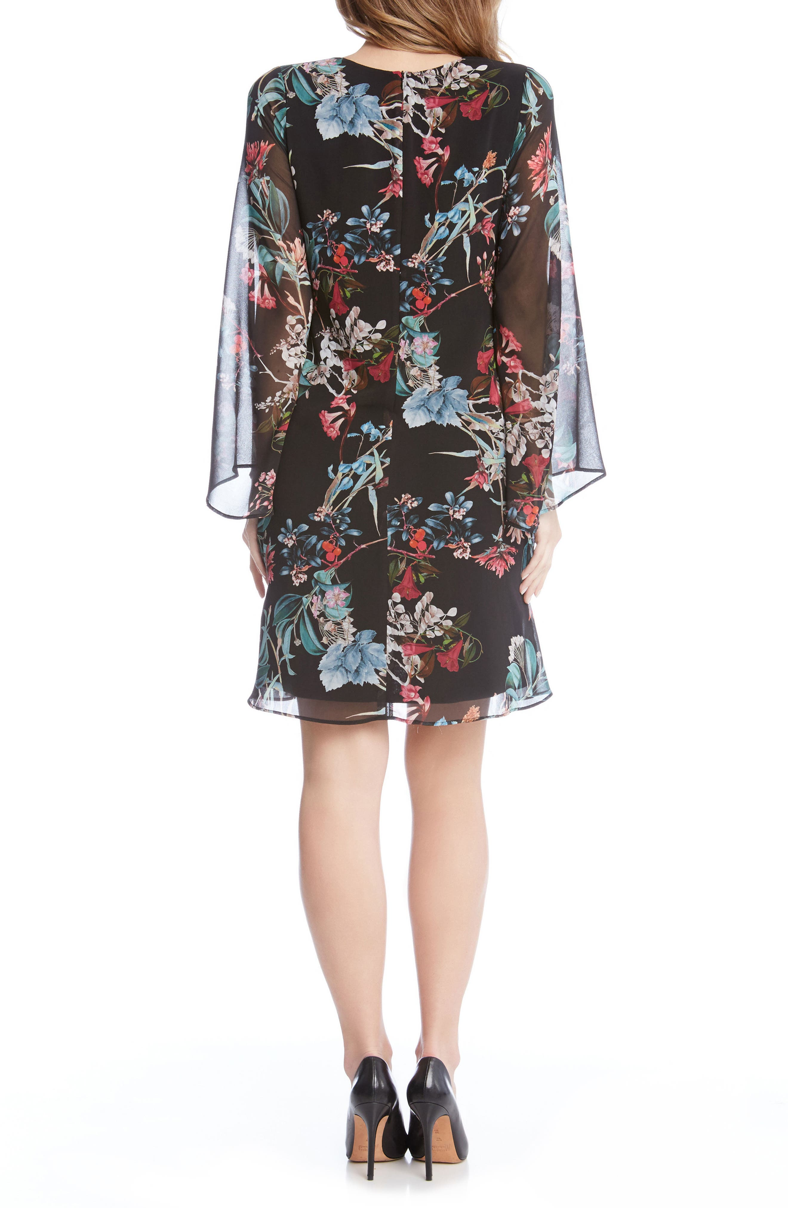 Bell Sleeve A-Line Dress,                             Alternate thumbnail 2, color,                             560