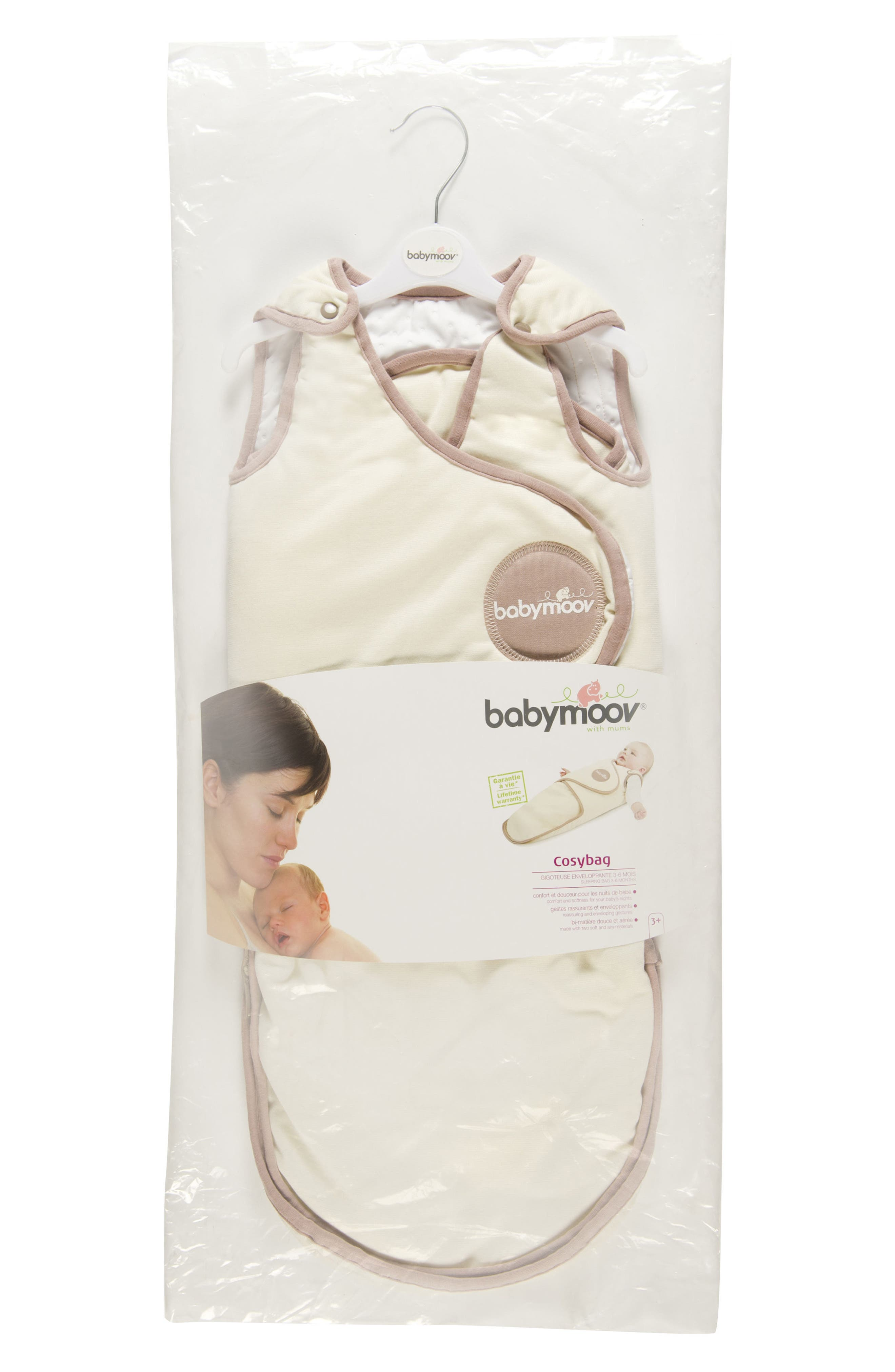 CosyBag Swaddle Wrap Blanket,                             Alternate thumbnail 3, color,                             CREAM
