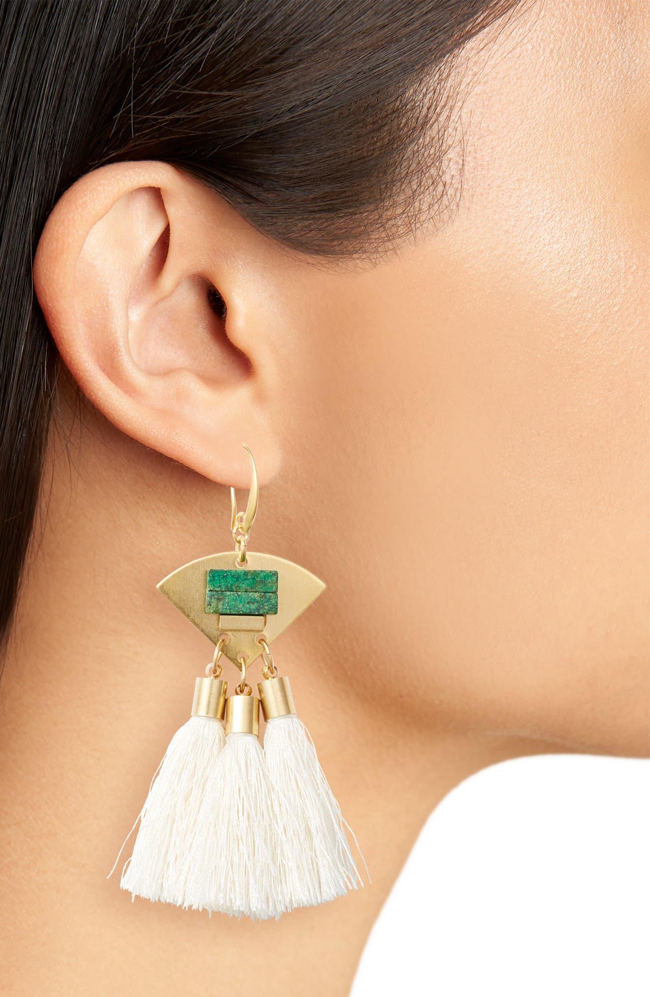 3-Tassel Earrings,                             Alternate thumbnail 8, color,