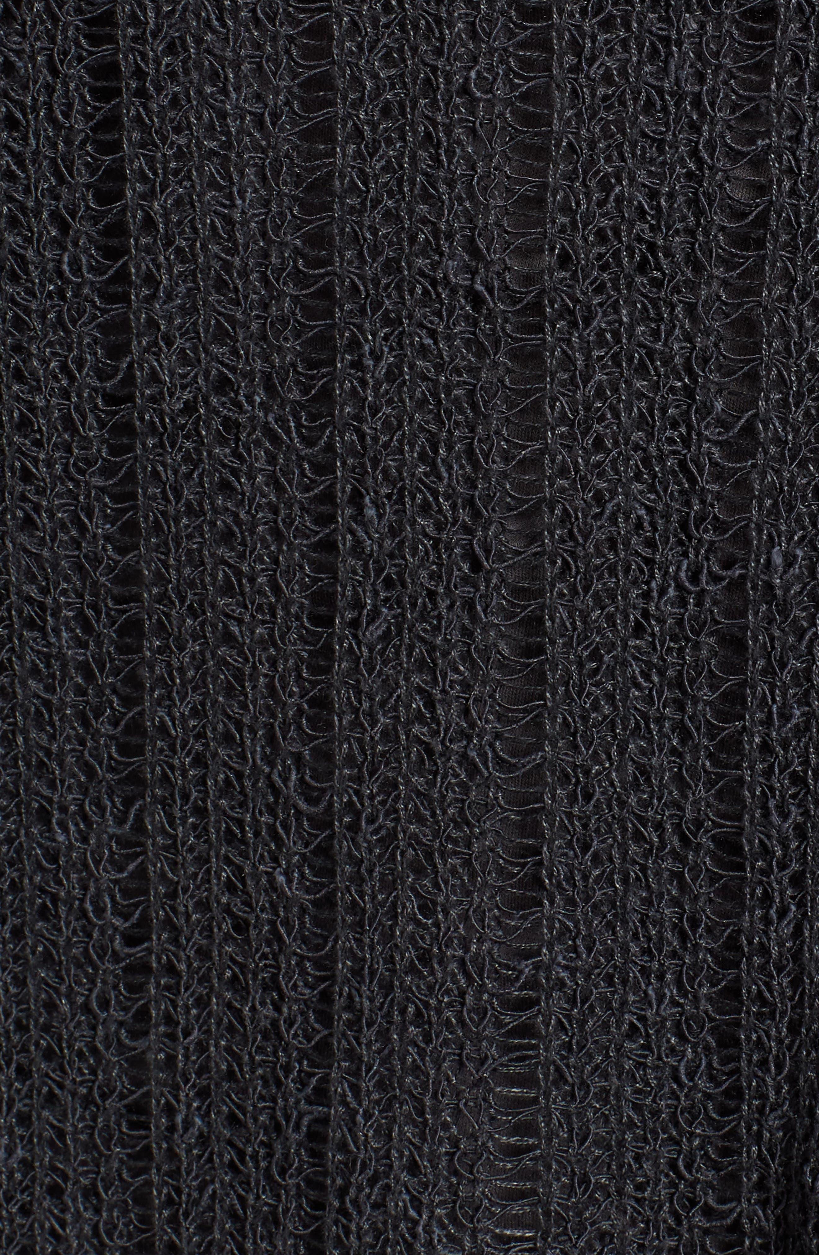 Open Knit Organic Linen Blend Sweater,                             Alternate thumbnail 6, color,                             025
